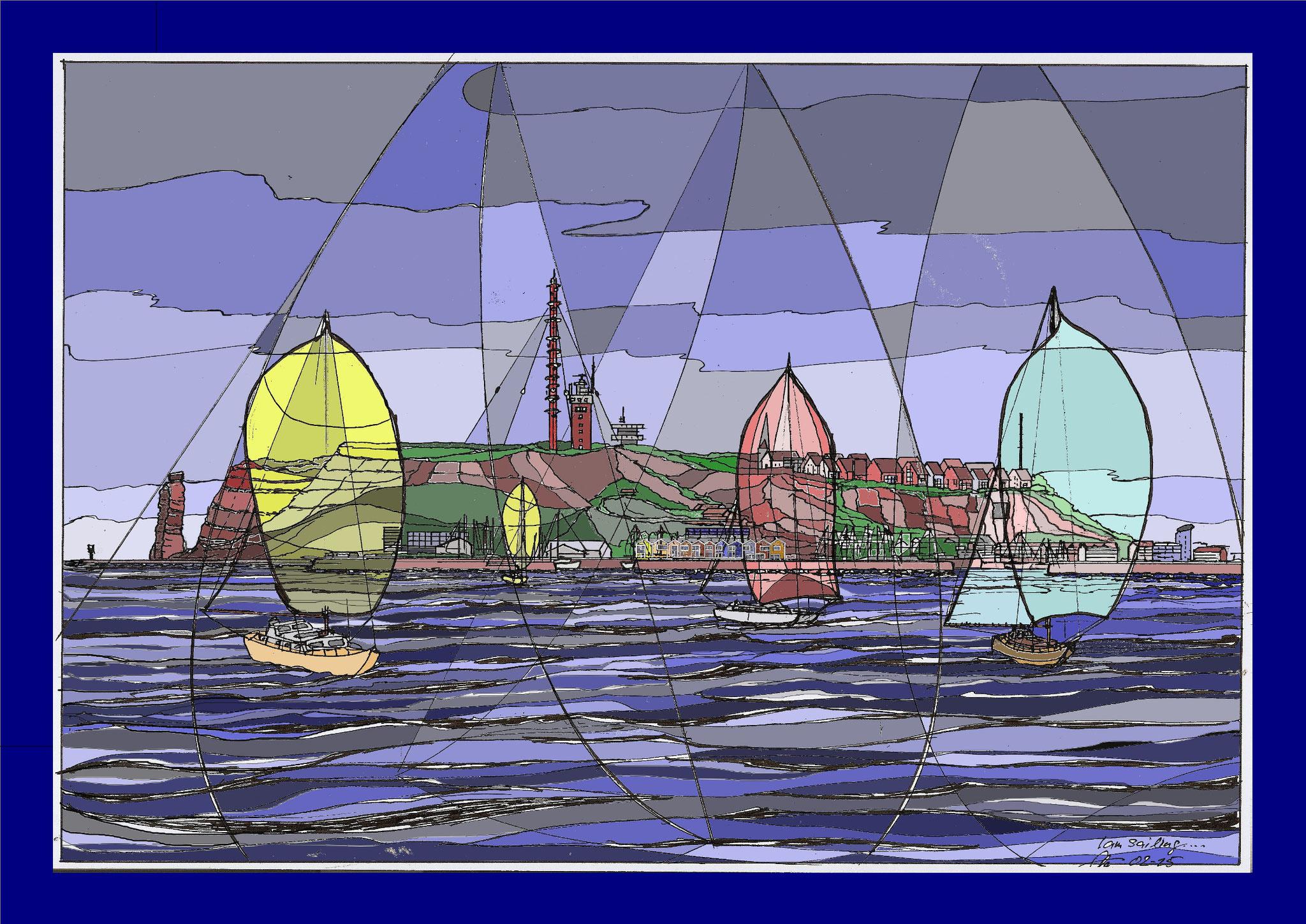 I'm sailing .. vor Helgoland
