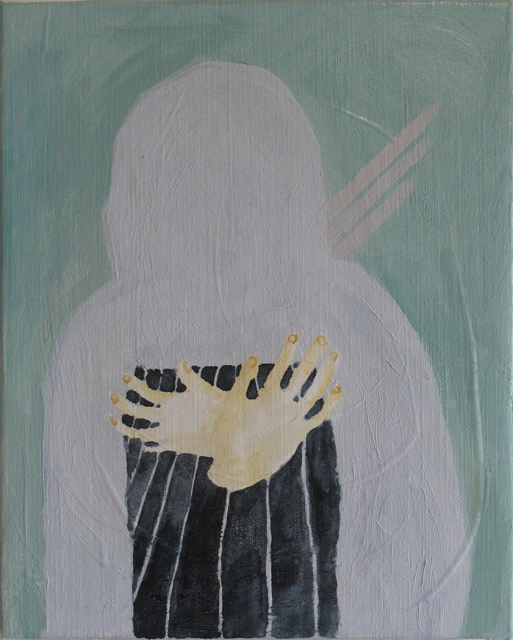 つれづれ息をして, oil on canvas,27.3×22cm, 2015