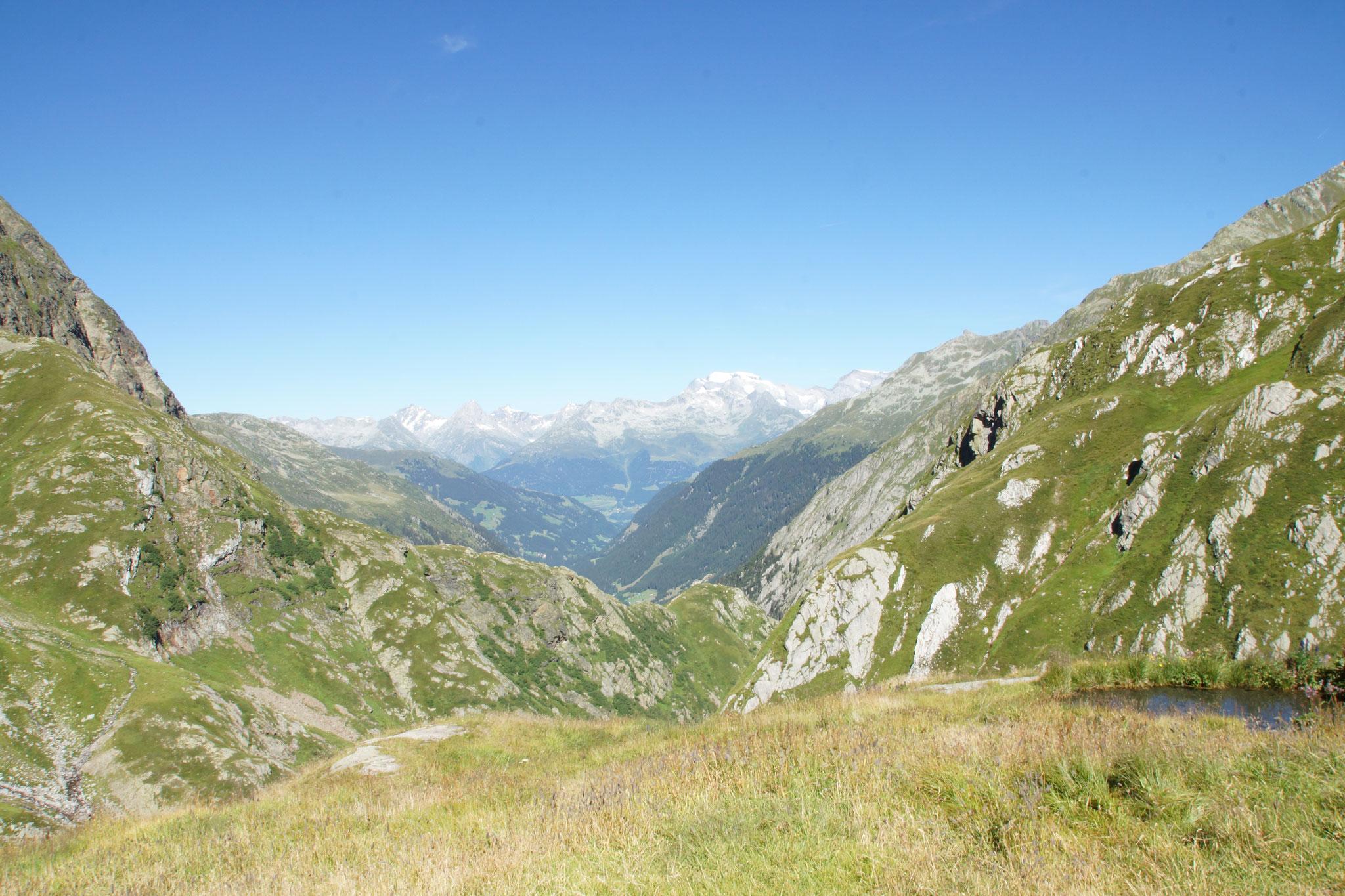 Aussicht von der Terri Hütte