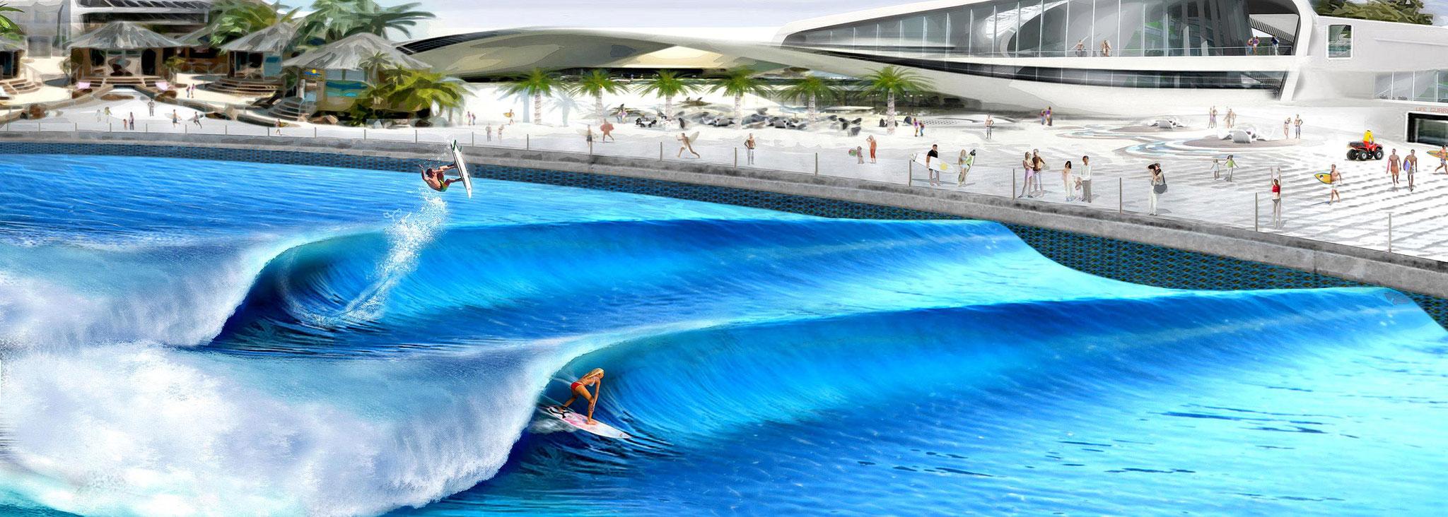 Schema eines möglichen Wavegardens