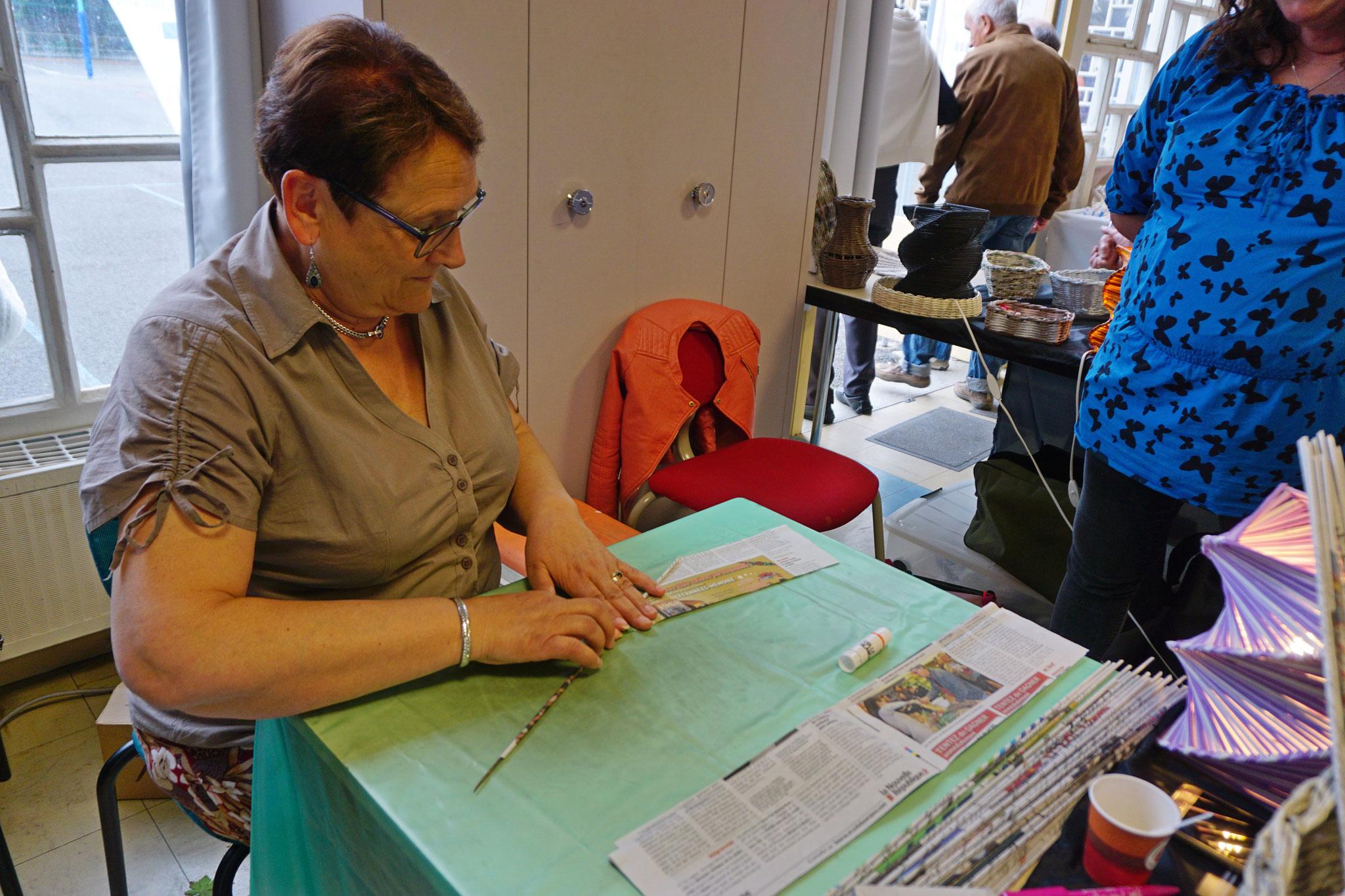 L'apprentissage du roulé de papier