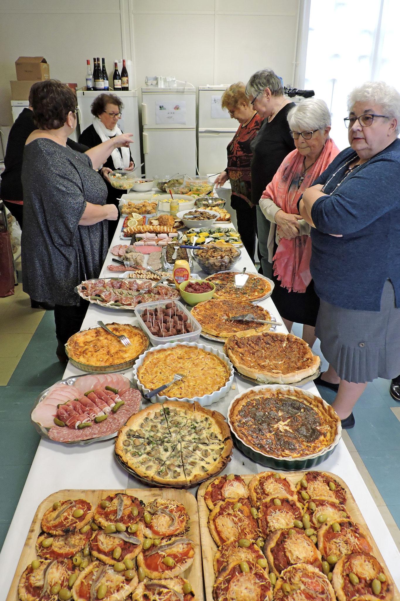 Le buffet toujours extraordinaire