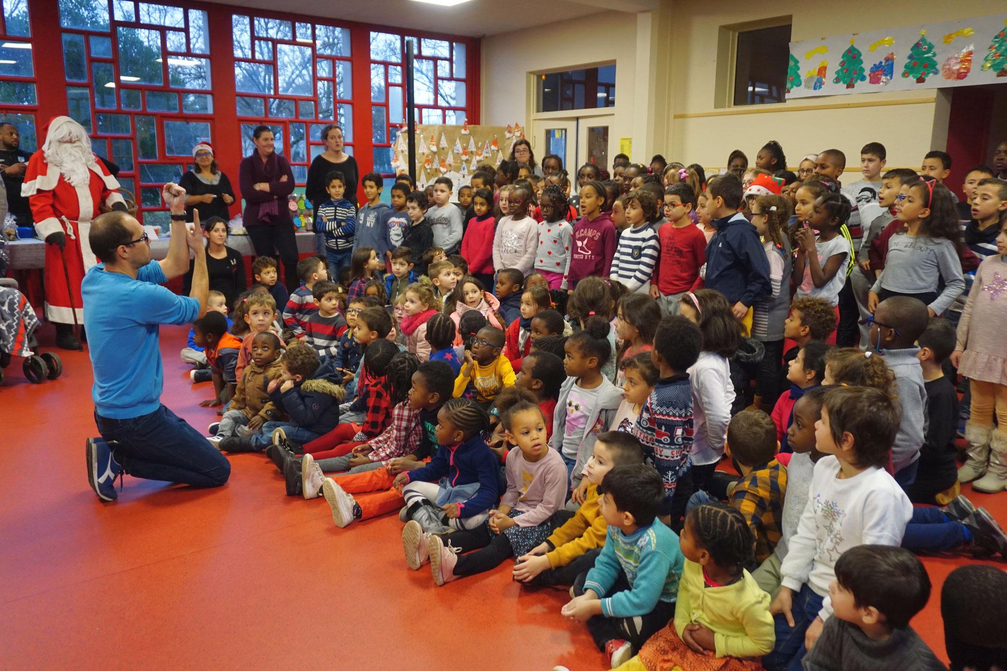 avec les élèves de l'école G.Flaubert
