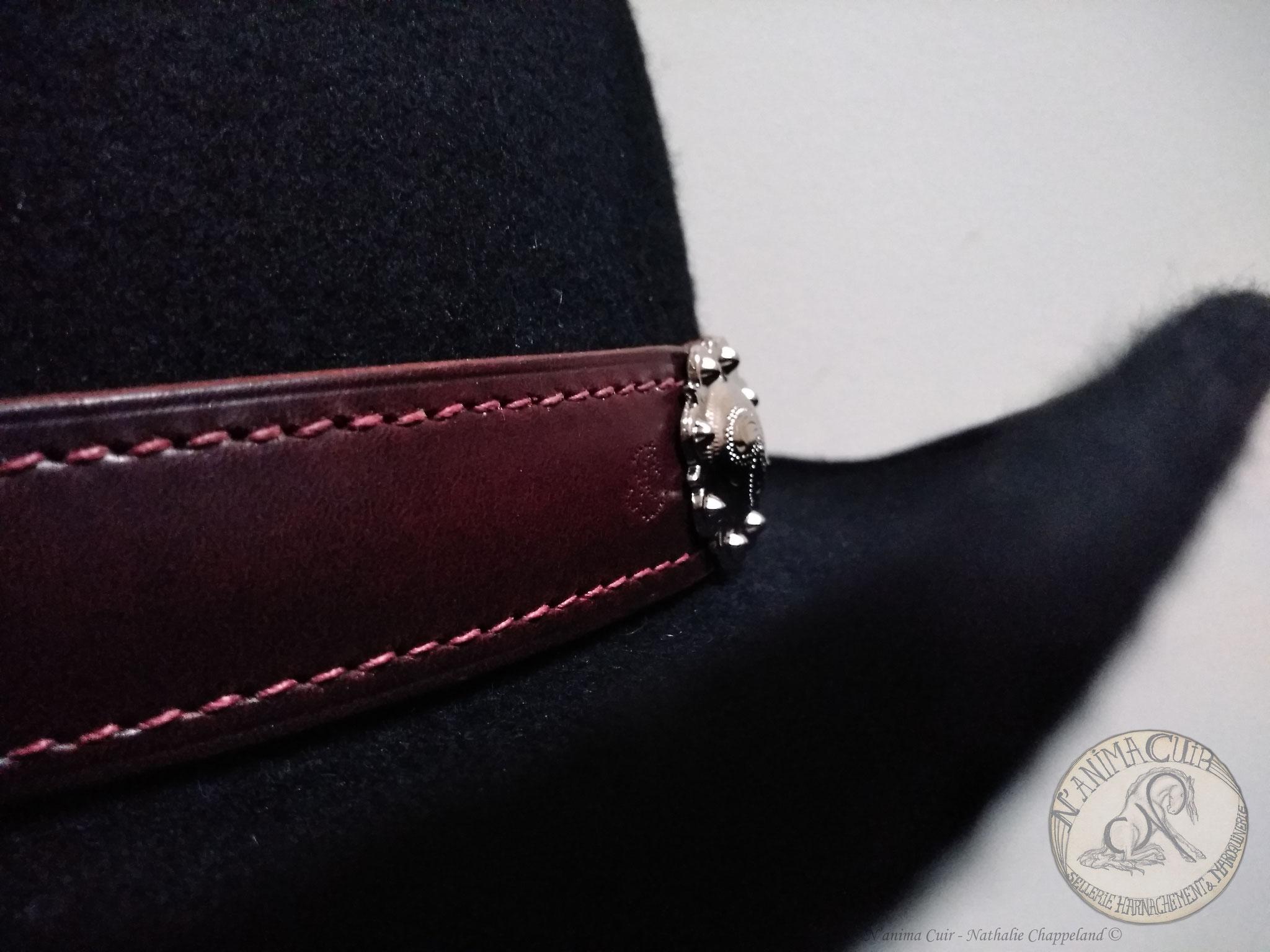 tour de chapeau N'anima Cuir
