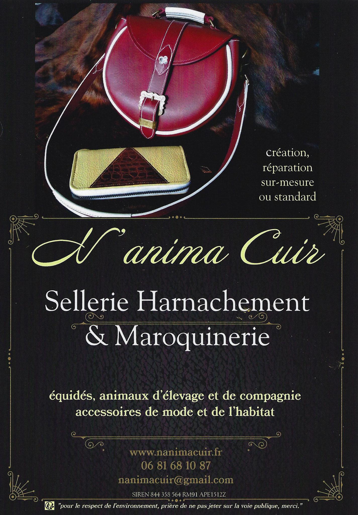 N'anima Cuir - microentreprise artisanale - Sellerie/Maroquinerie - Déco d'intérieur