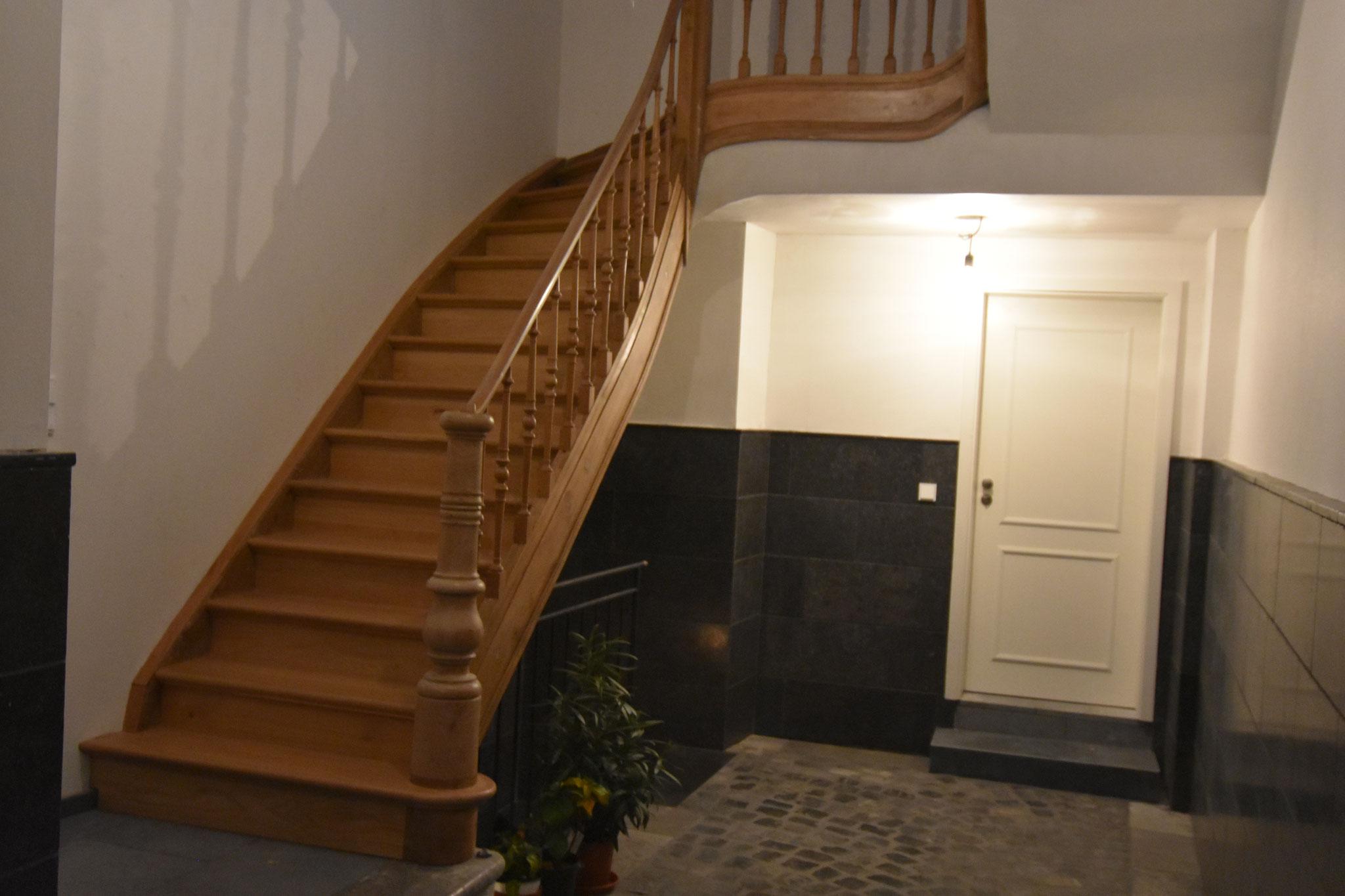 Renovierung einer alten Treppe