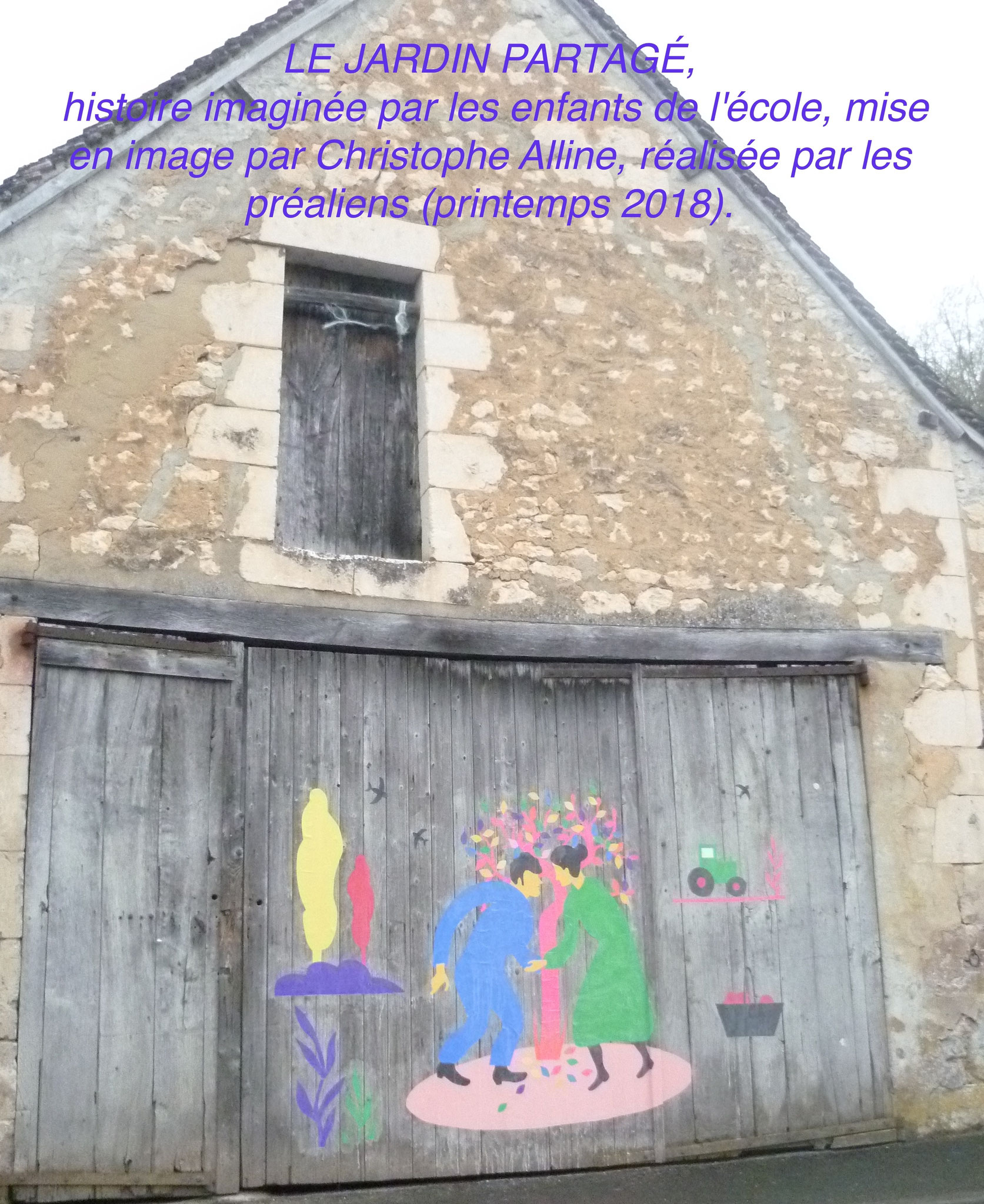 LE JARDIN PARTAGÉ, histoire imaginée par les enfants de l'école, mise en image par Christophe Alline, réalisée par les préaliens (printemps 2018).