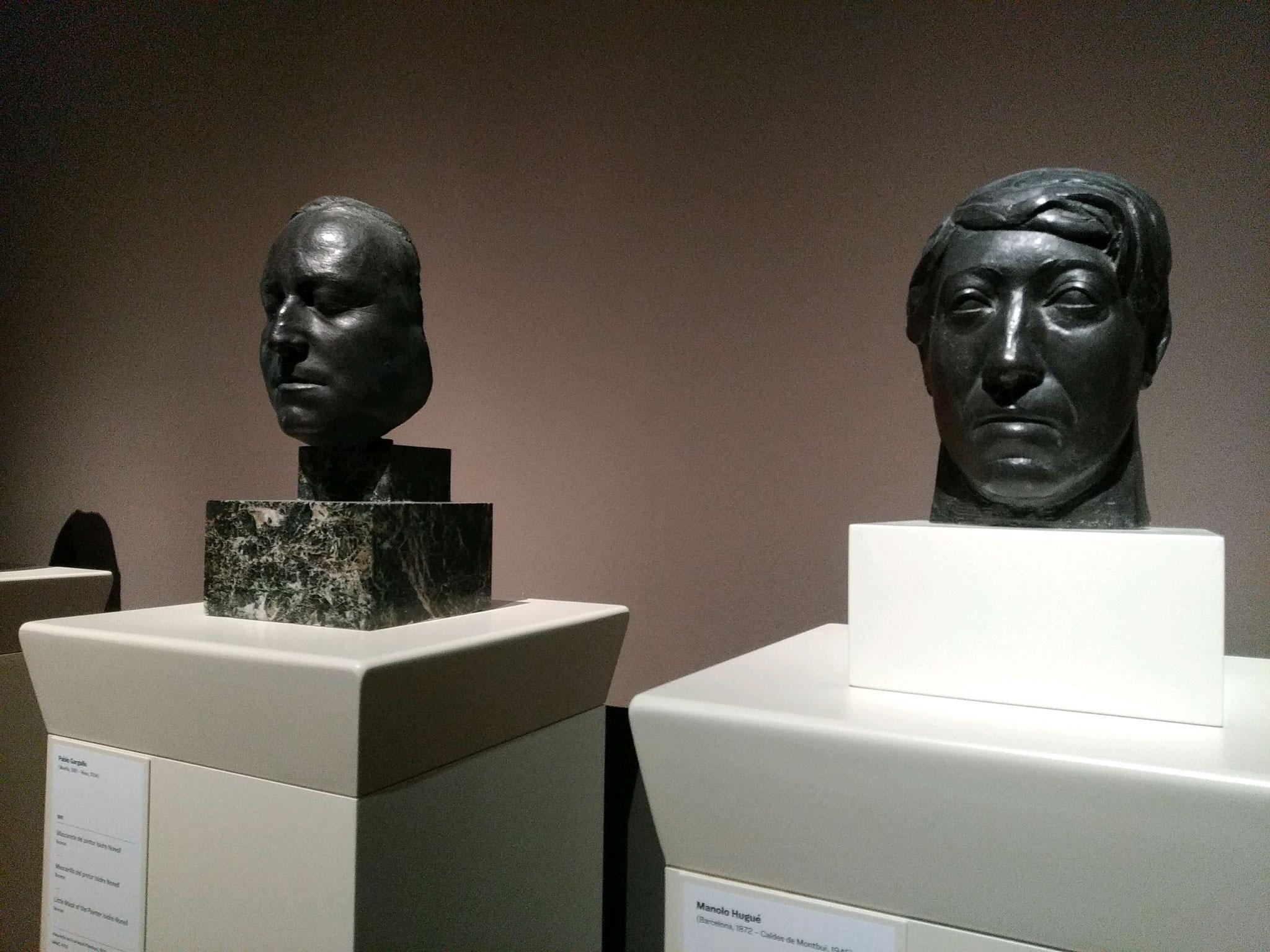 Escultures de bustos a les sales d'Art Modern