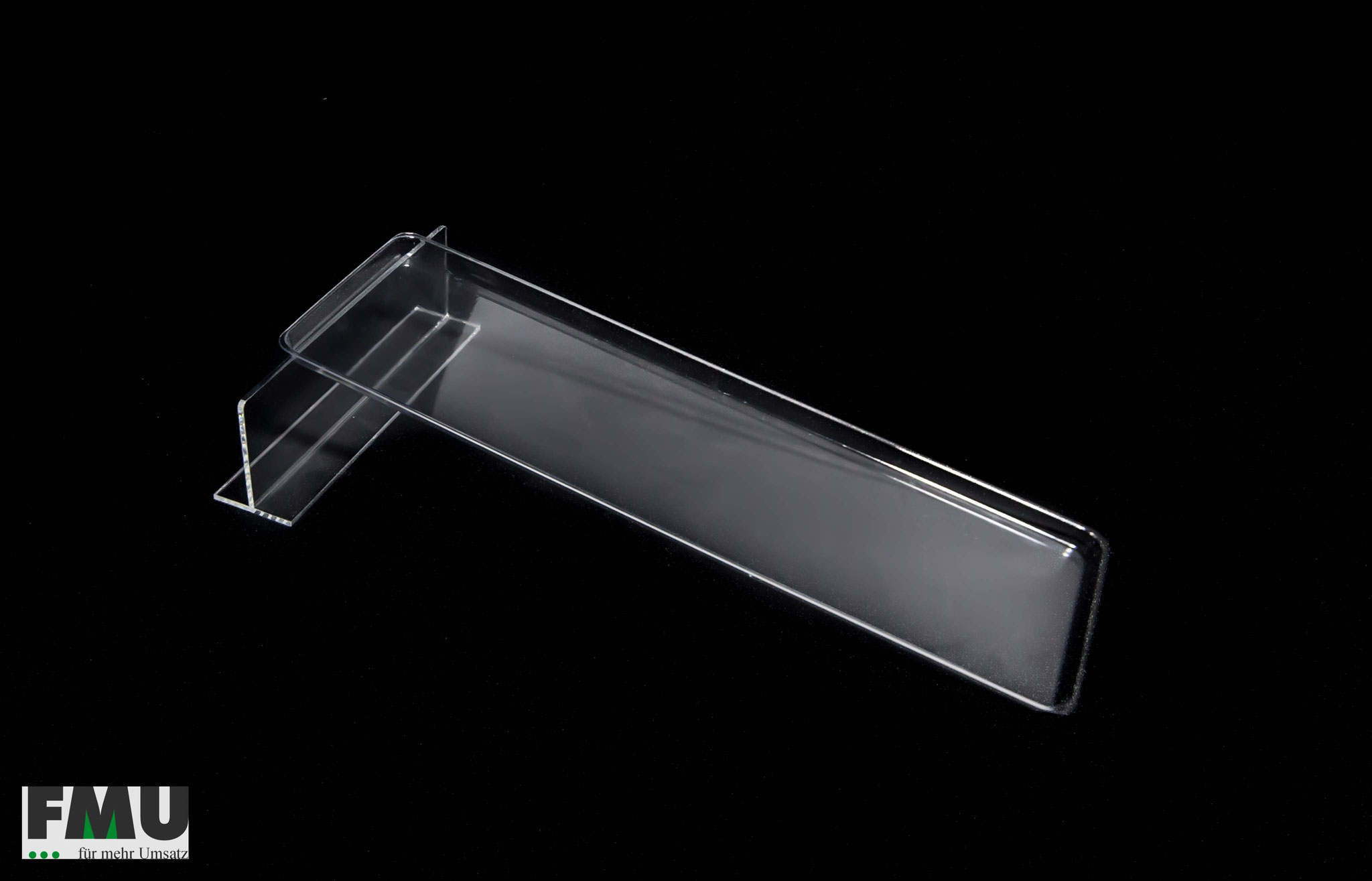 Auslegetablett transparent 18, 195x600mm