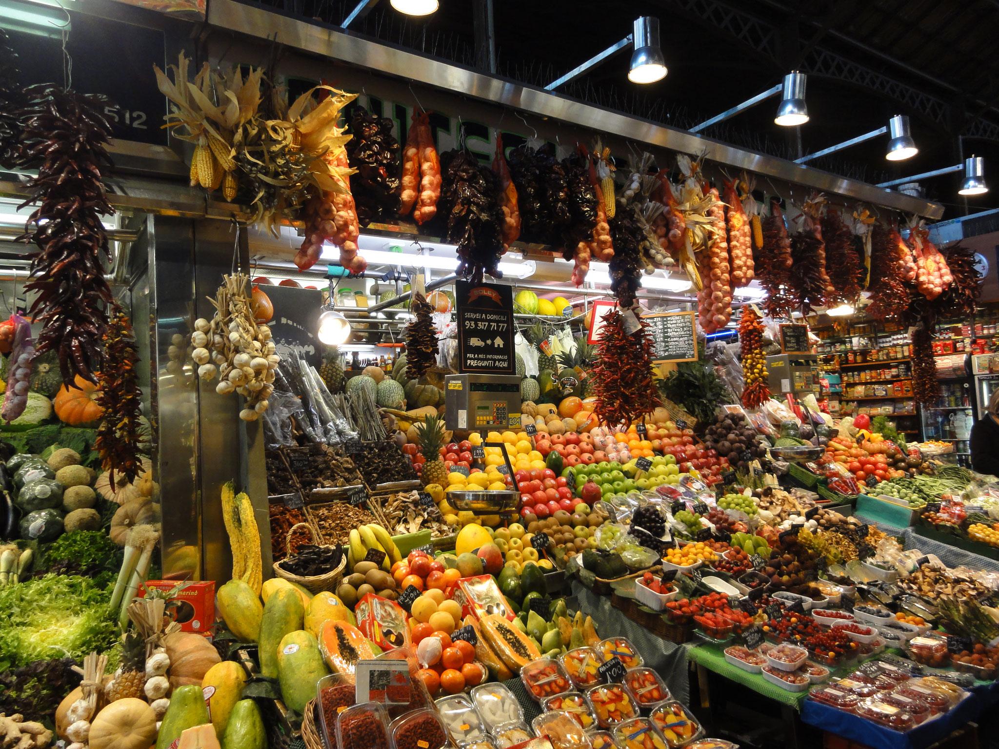 Le marché la Boqueria