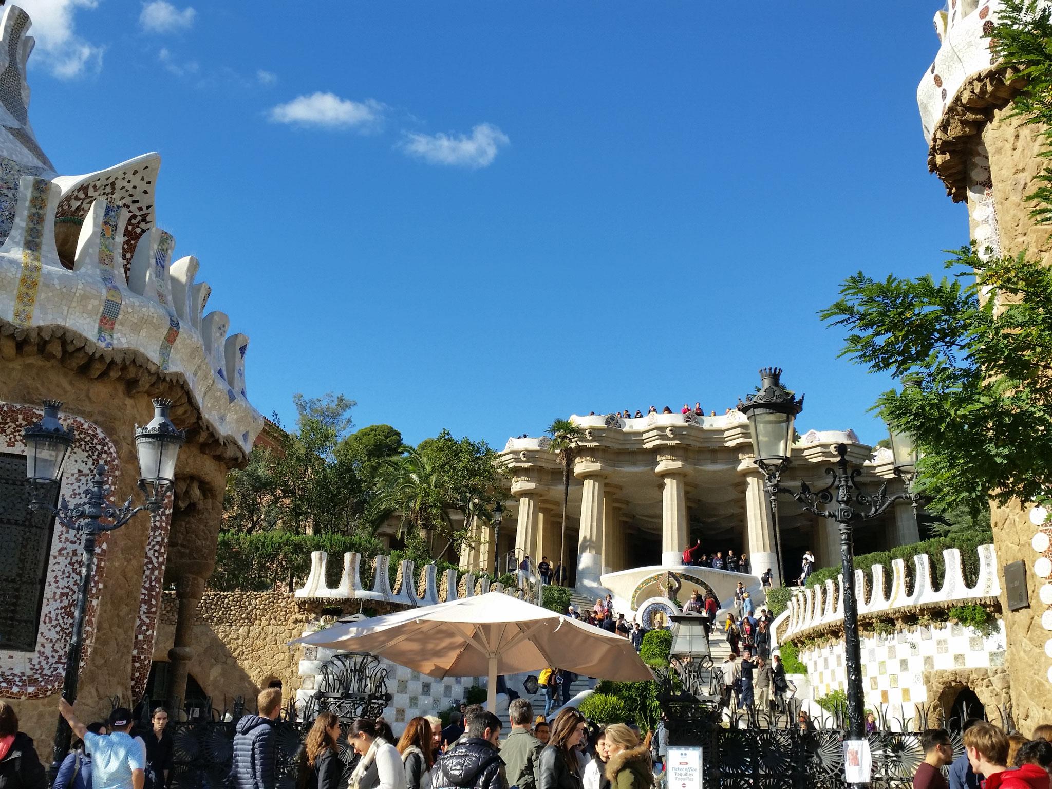 L'entrée du parc Güell