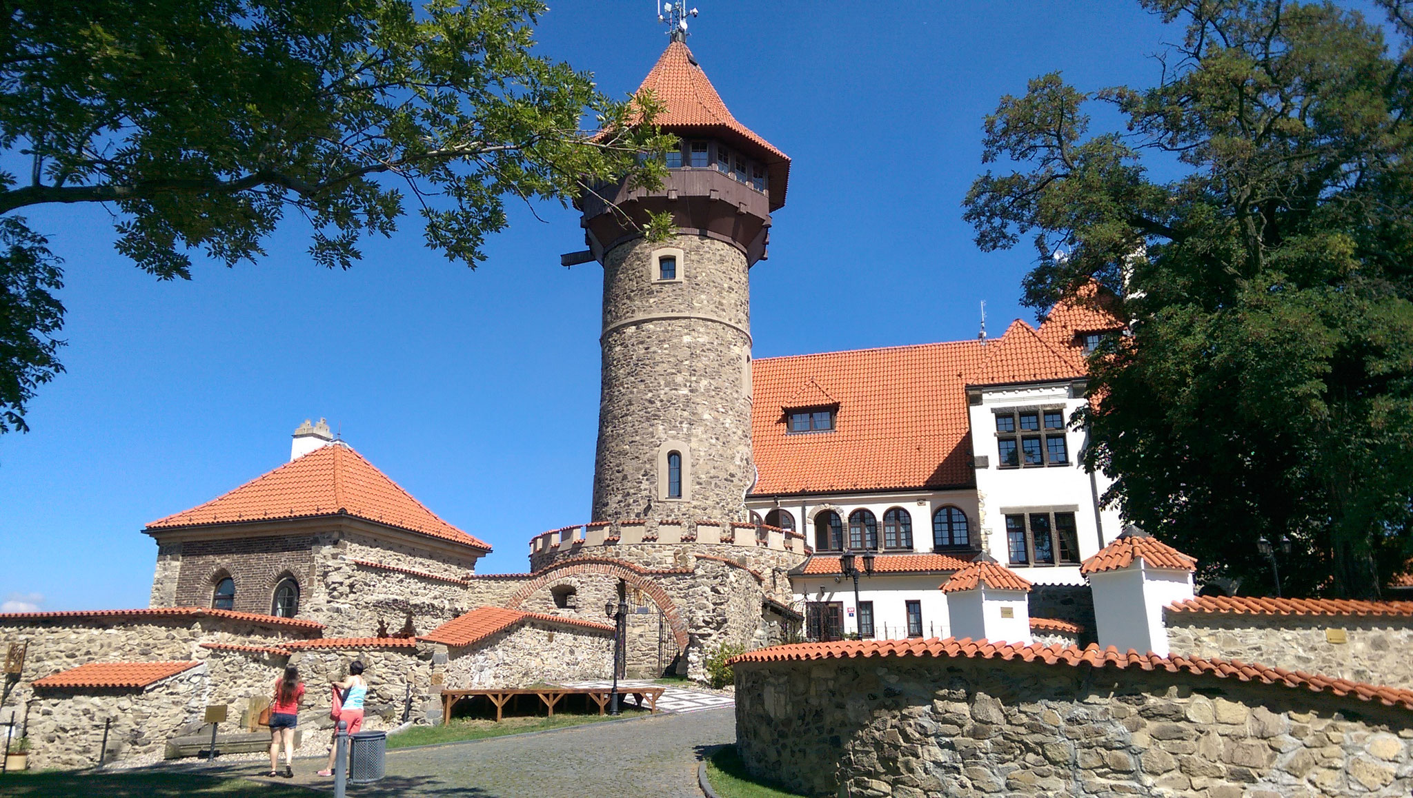 Burg Hnevin in Most