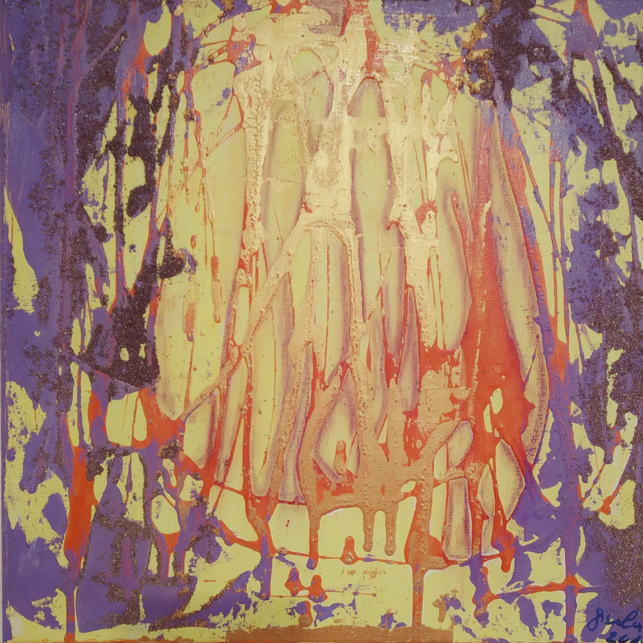 8. Transformation, Acryl auf Leinwand, Grösse 40 x 40 cm