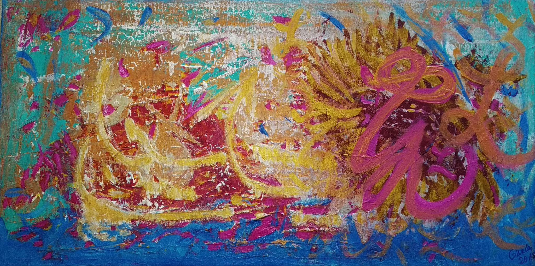 31. Durchbruch des Lichts, Acryl auf Leinwand, Grösse 100 x 50 cm
