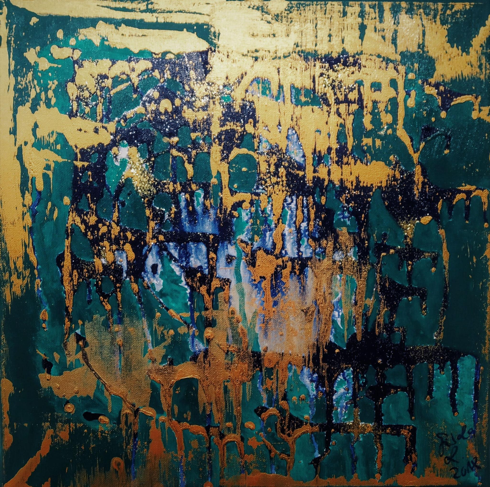 7. Hoffnung, Acryl auf Leinwand, Grösse 40 x 40 cm