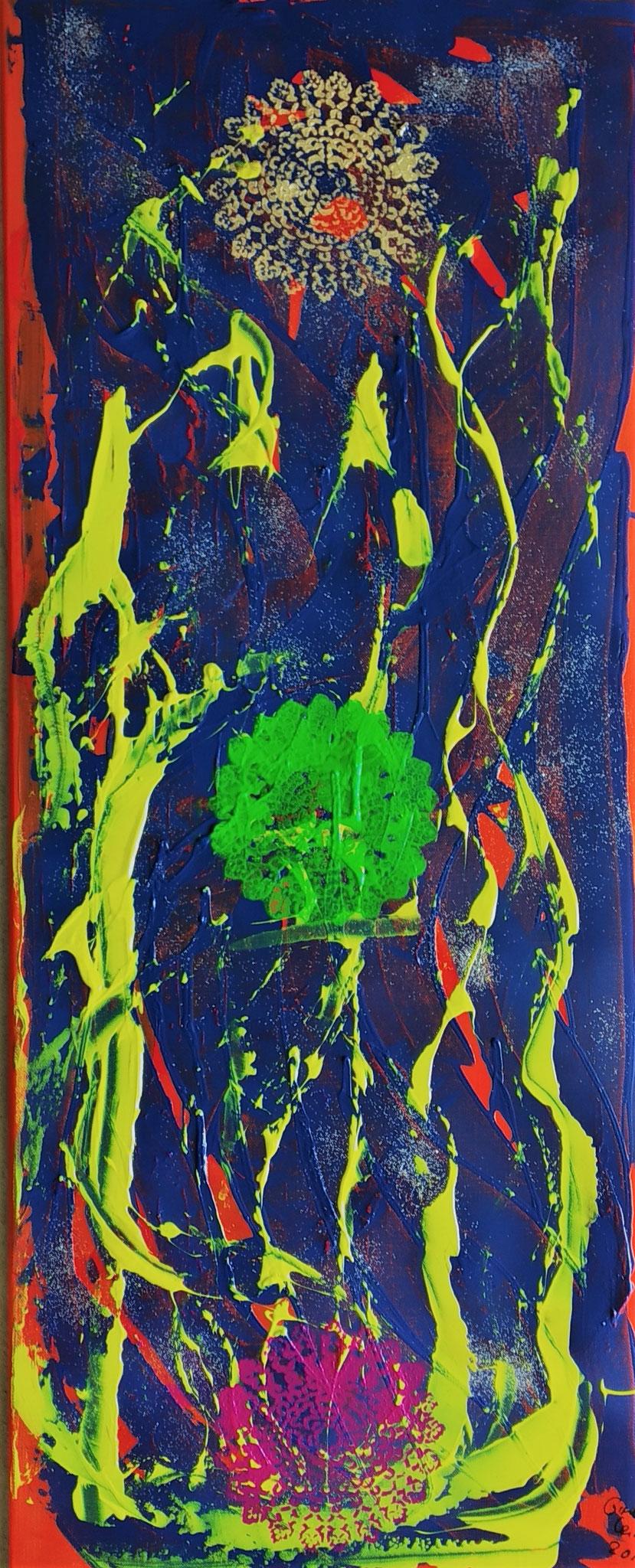 30. Dreieinigkeit, Acryl auf Leinwand, Grösse 40 x 100 cm