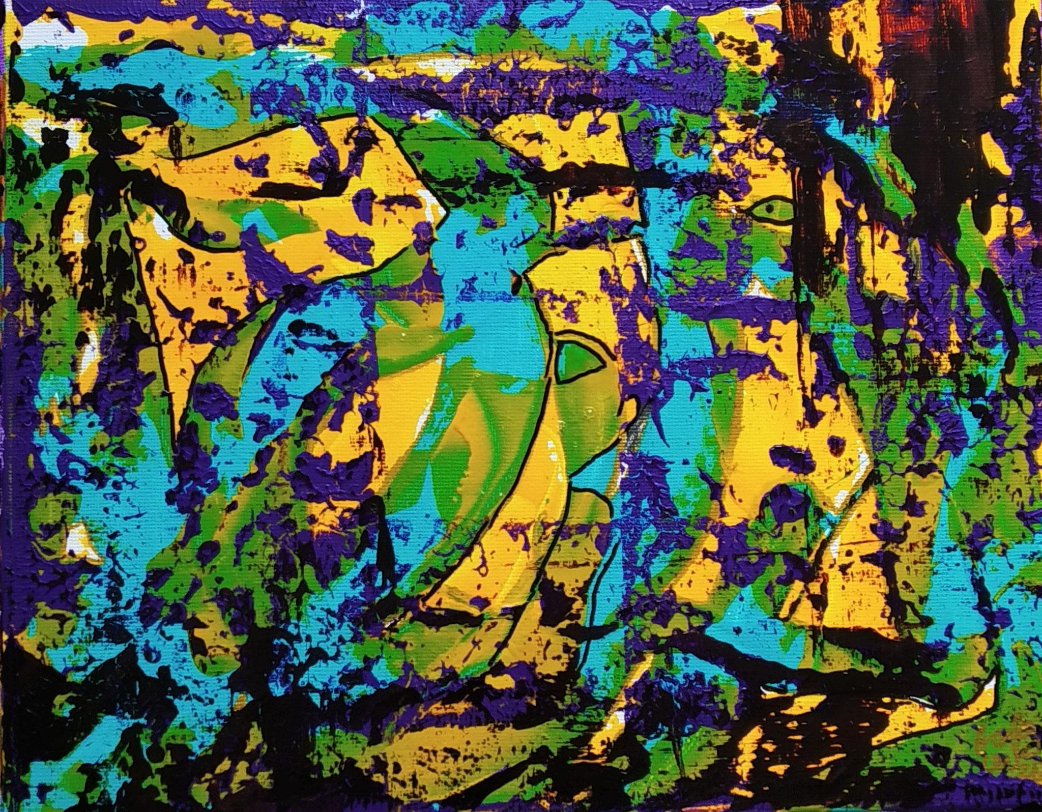 26. Den Fokus halten, Acryl auf Leinwand, Grösse 30 x 24 cm