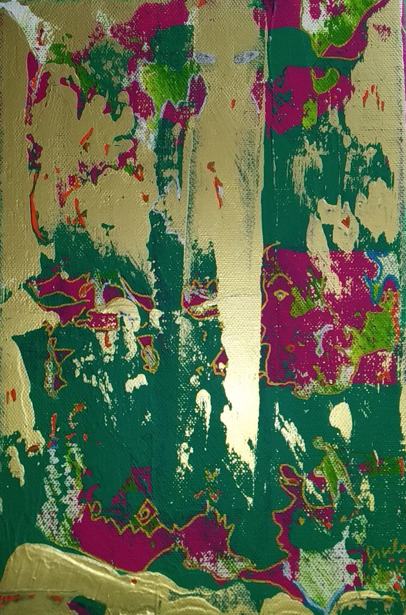 22. In der Gegenwart sein, Acryl auf Leinwand, Grösse 20 x 30 cm