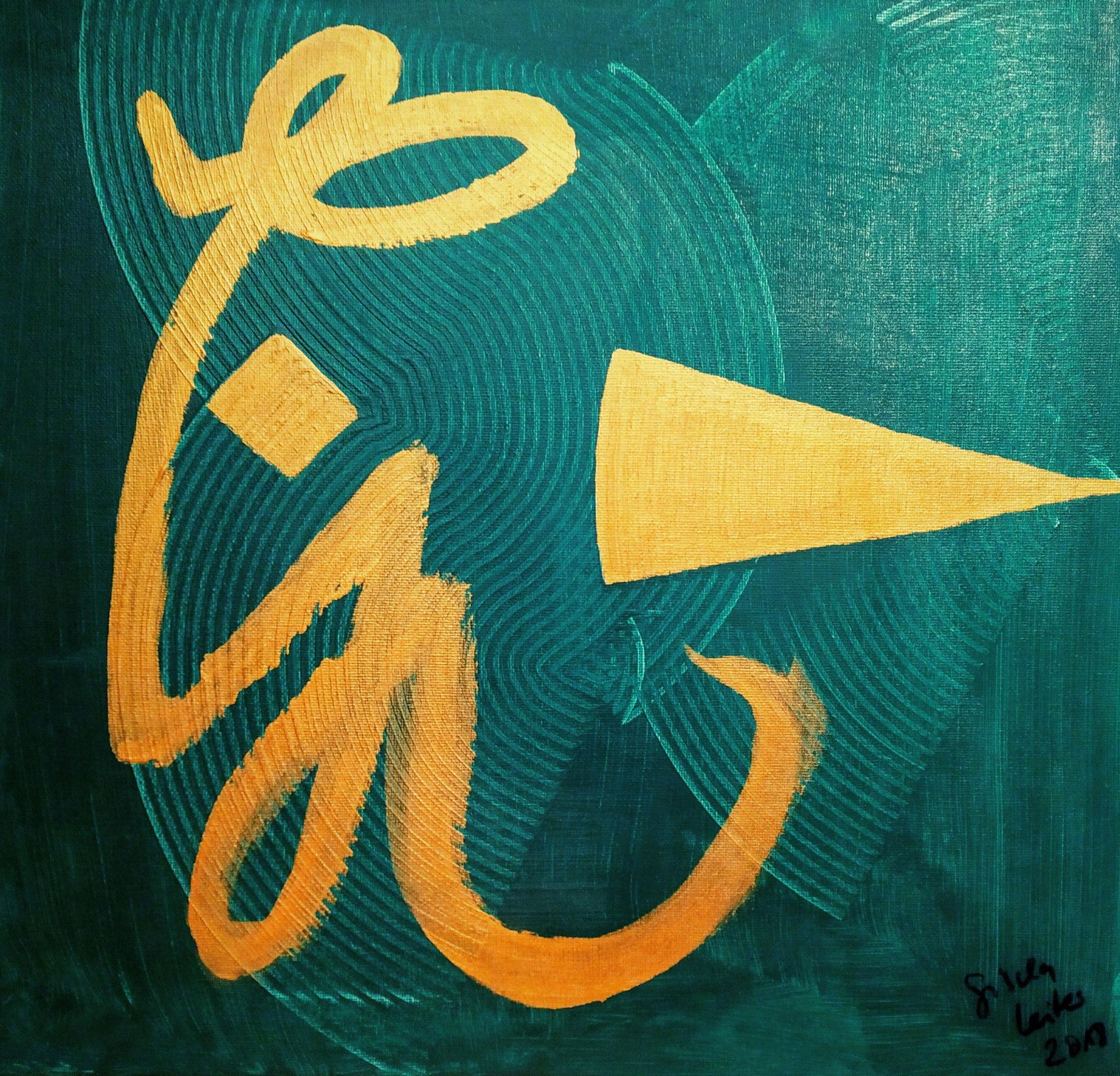 16. Lichtdusche, Acryl auf Leinwand, Grösse 40 x 40 cm