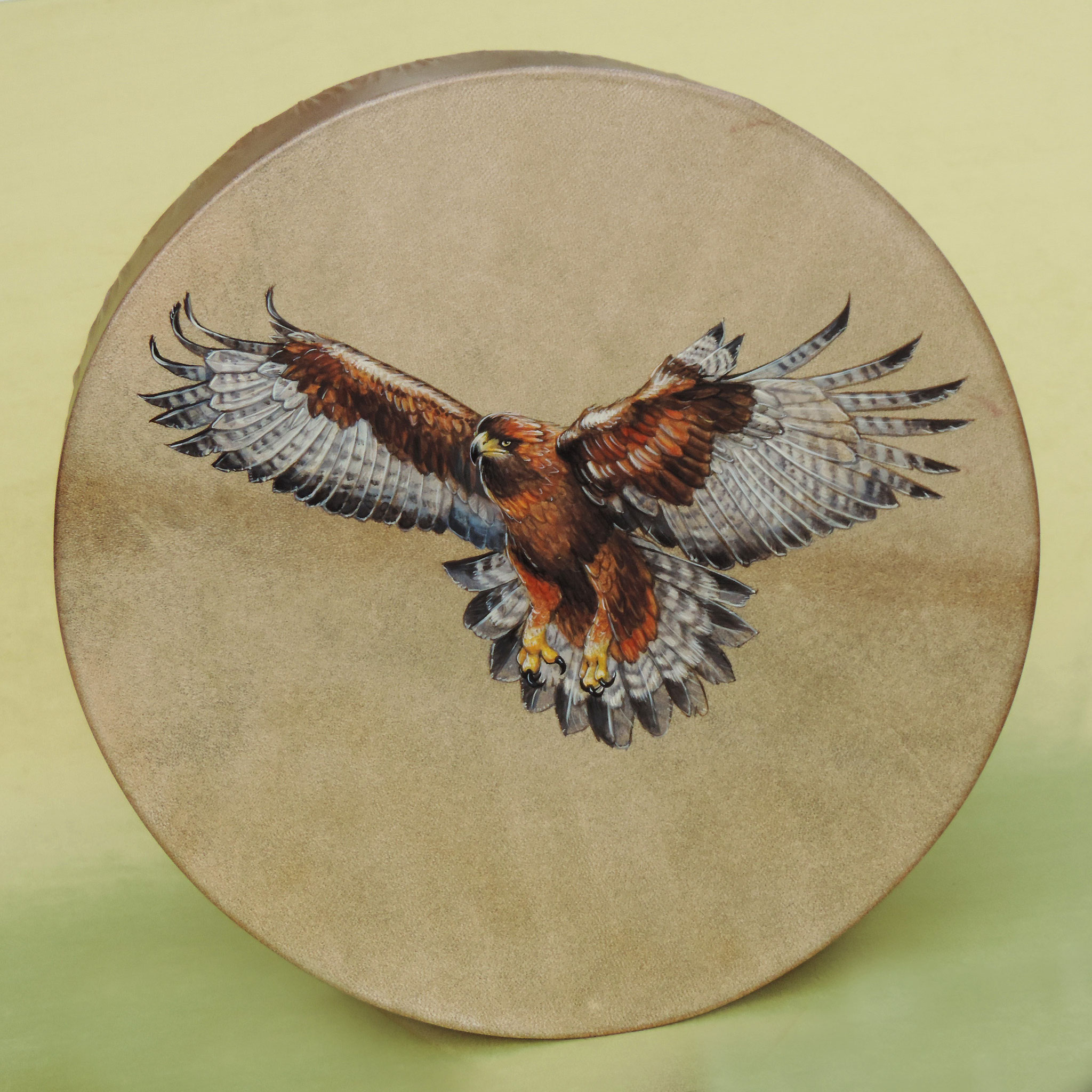 40 cm drum hand-painted with eagle