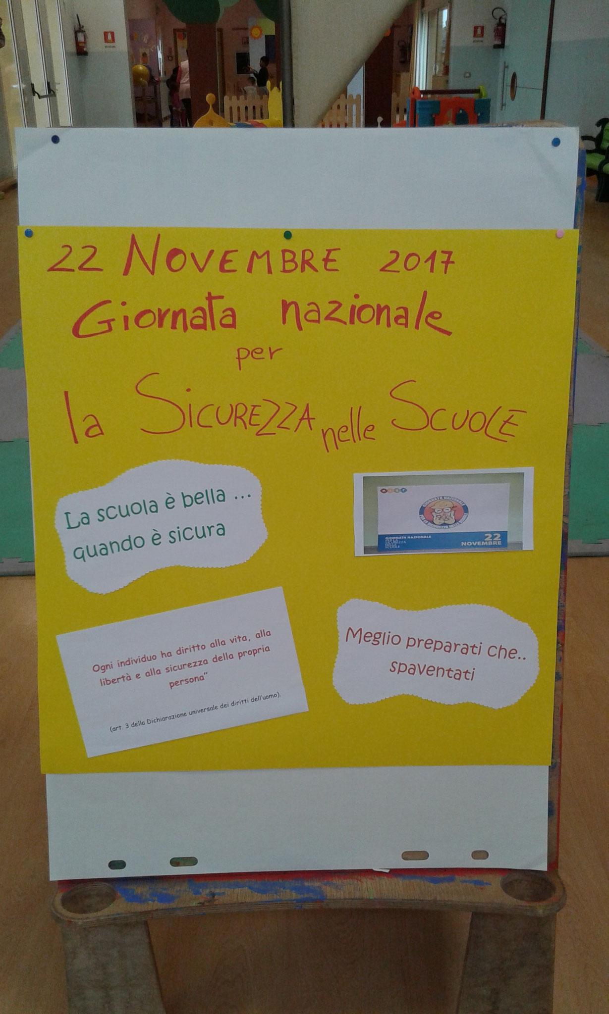 22 NOVEMBRE 2017  GIORNATA DELLA SICUREZZA
