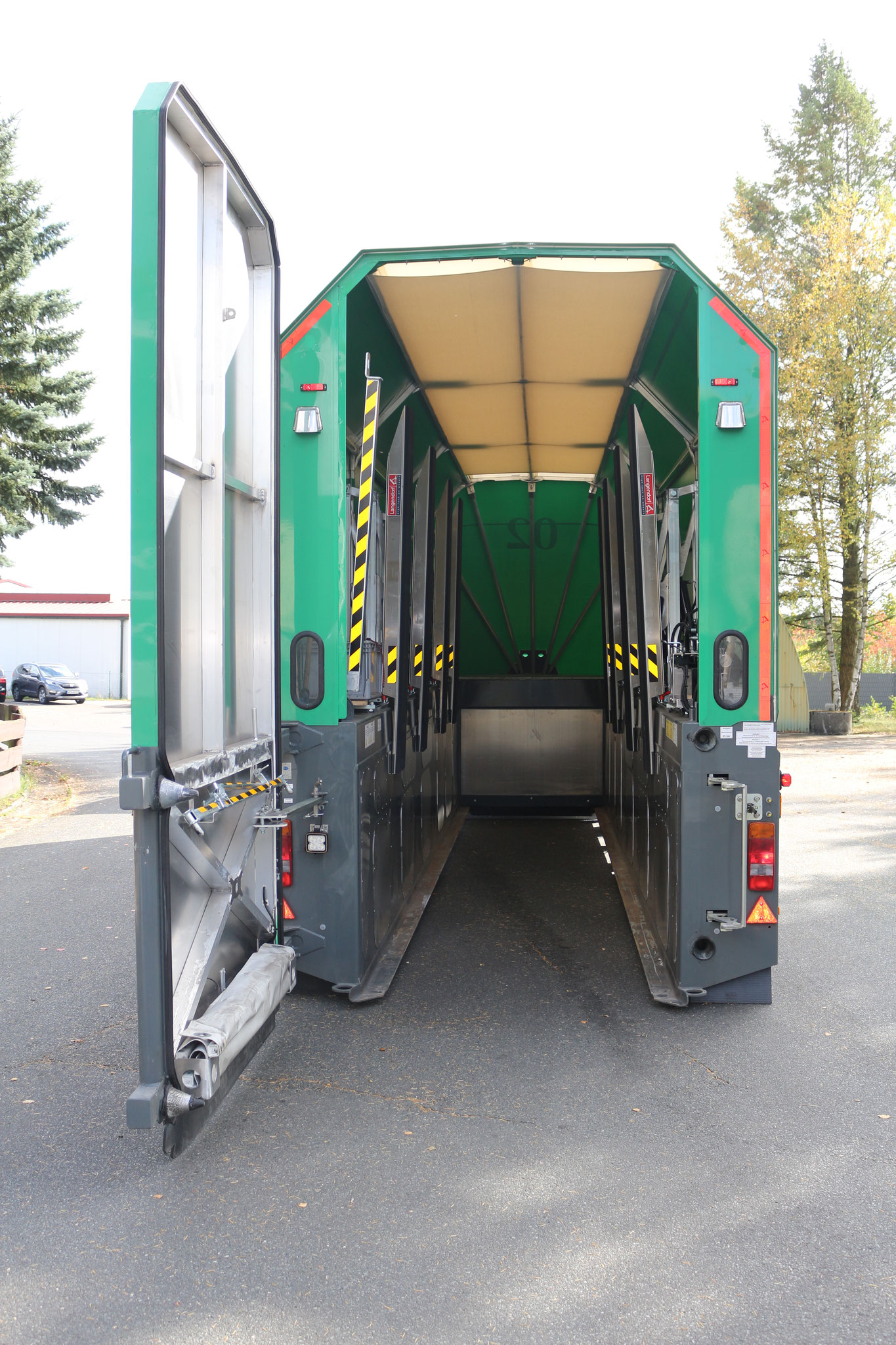 Loading Bay of an Inloader Truck