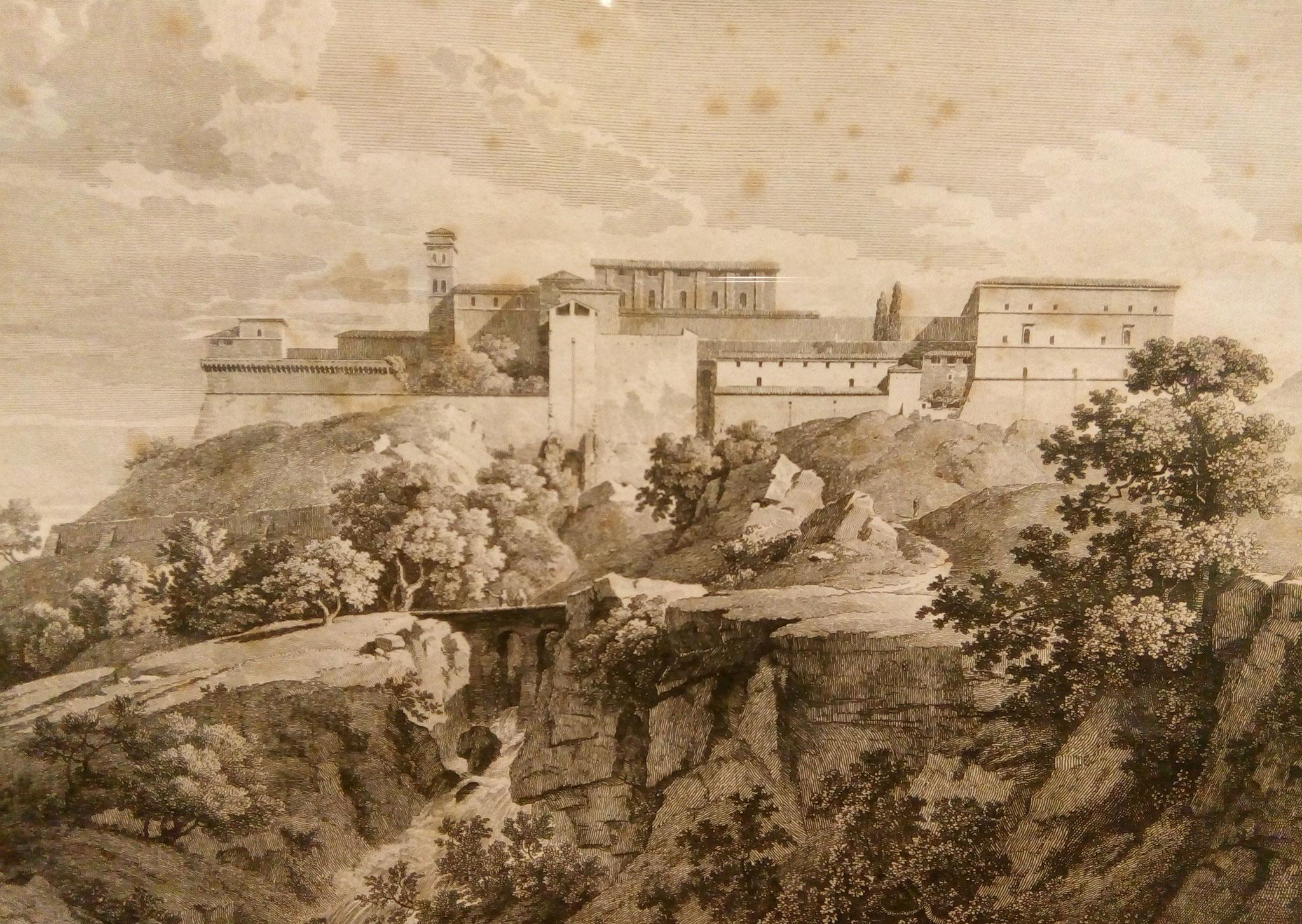 Veduta di Montecassino, Constant Bourgeois, Paris, 1810