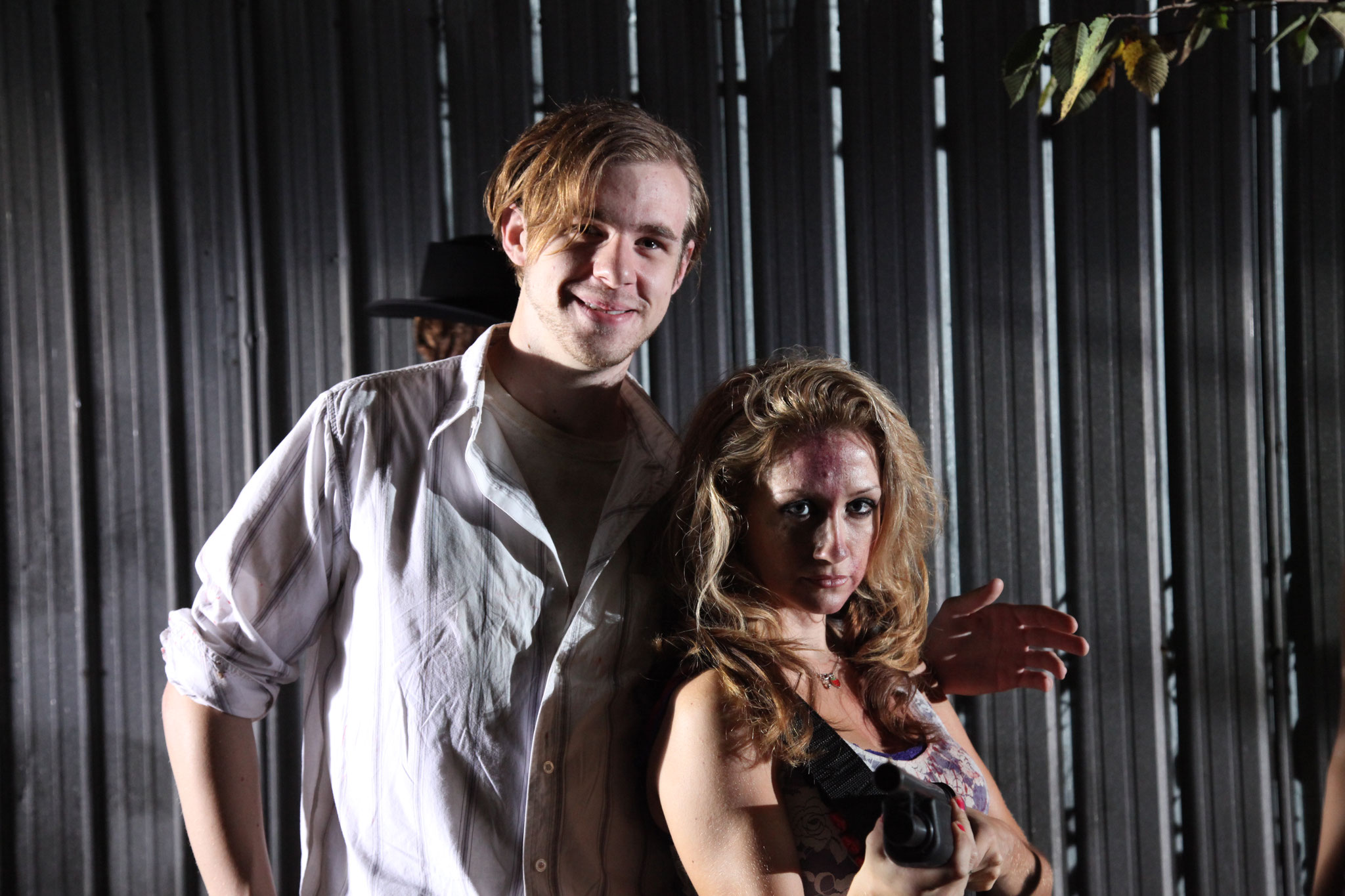 Hank (Shaun Vain) and Lenore (Fiona Domenica).