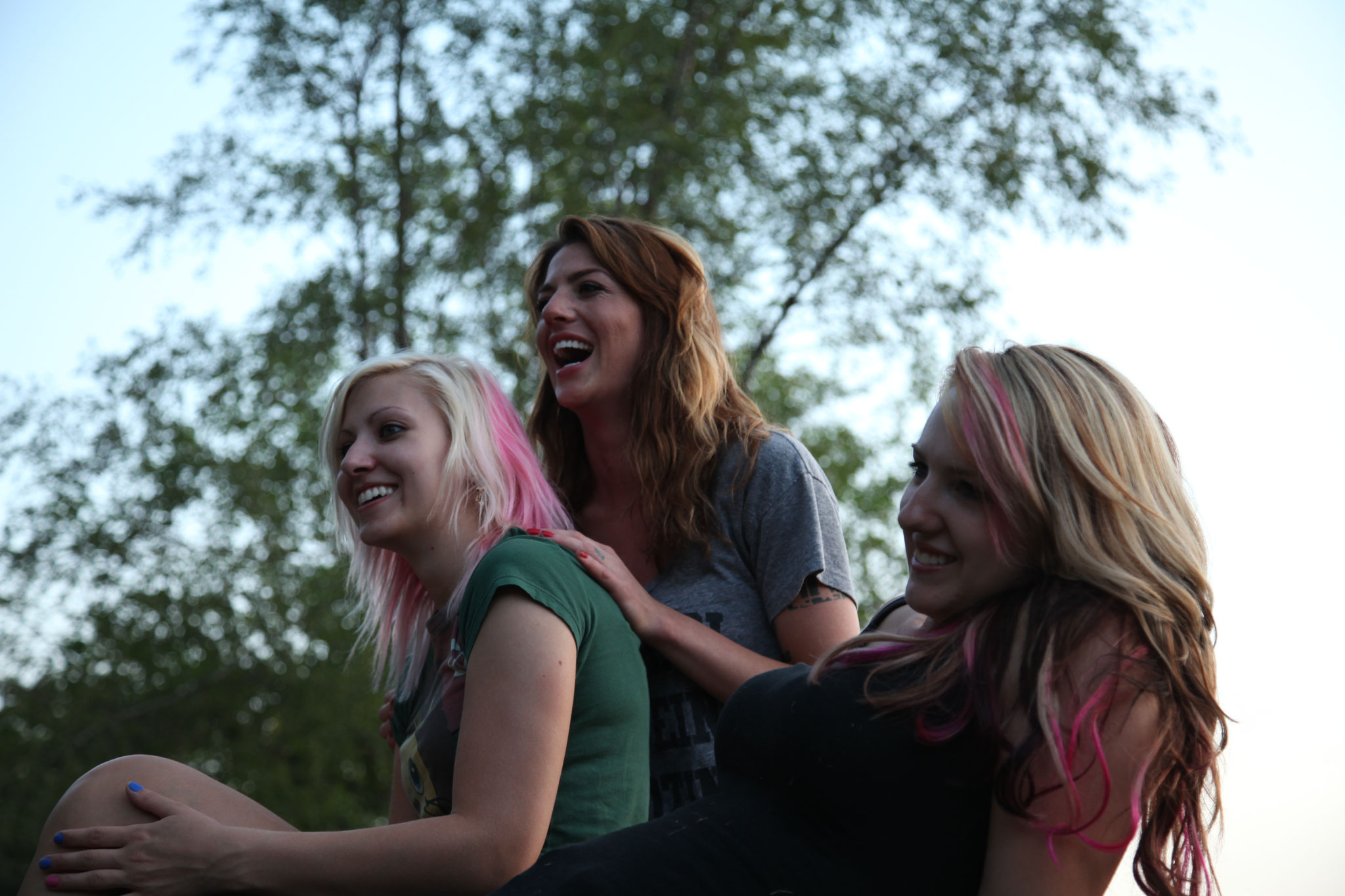 Some of the lovely ladies of the High on the Hog crew.  L/R: Liz Salvato, Courtney Shattuck, Sarah Sharp.