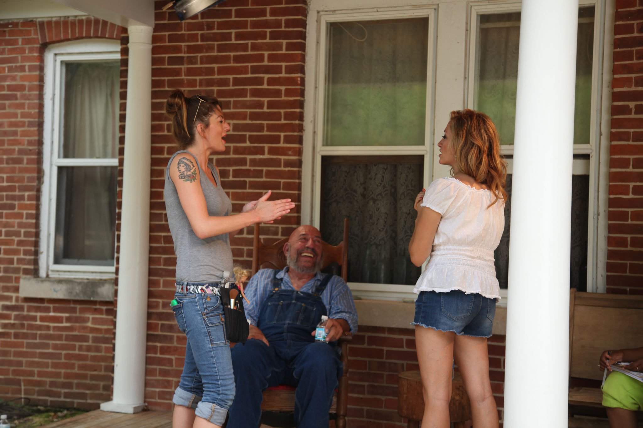 Some of the family hanging out on the front porch of Big Daddy's house.