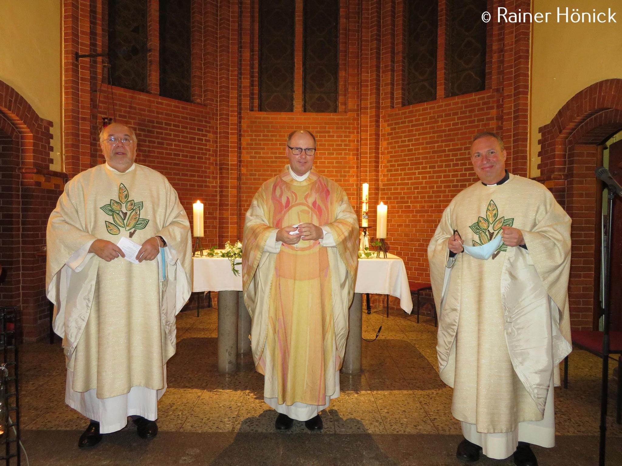 Dank an Dechant Christian Piegenschke, Domkapitular Martin Tenge und Pastor Dr. Bogdan Dabrowski