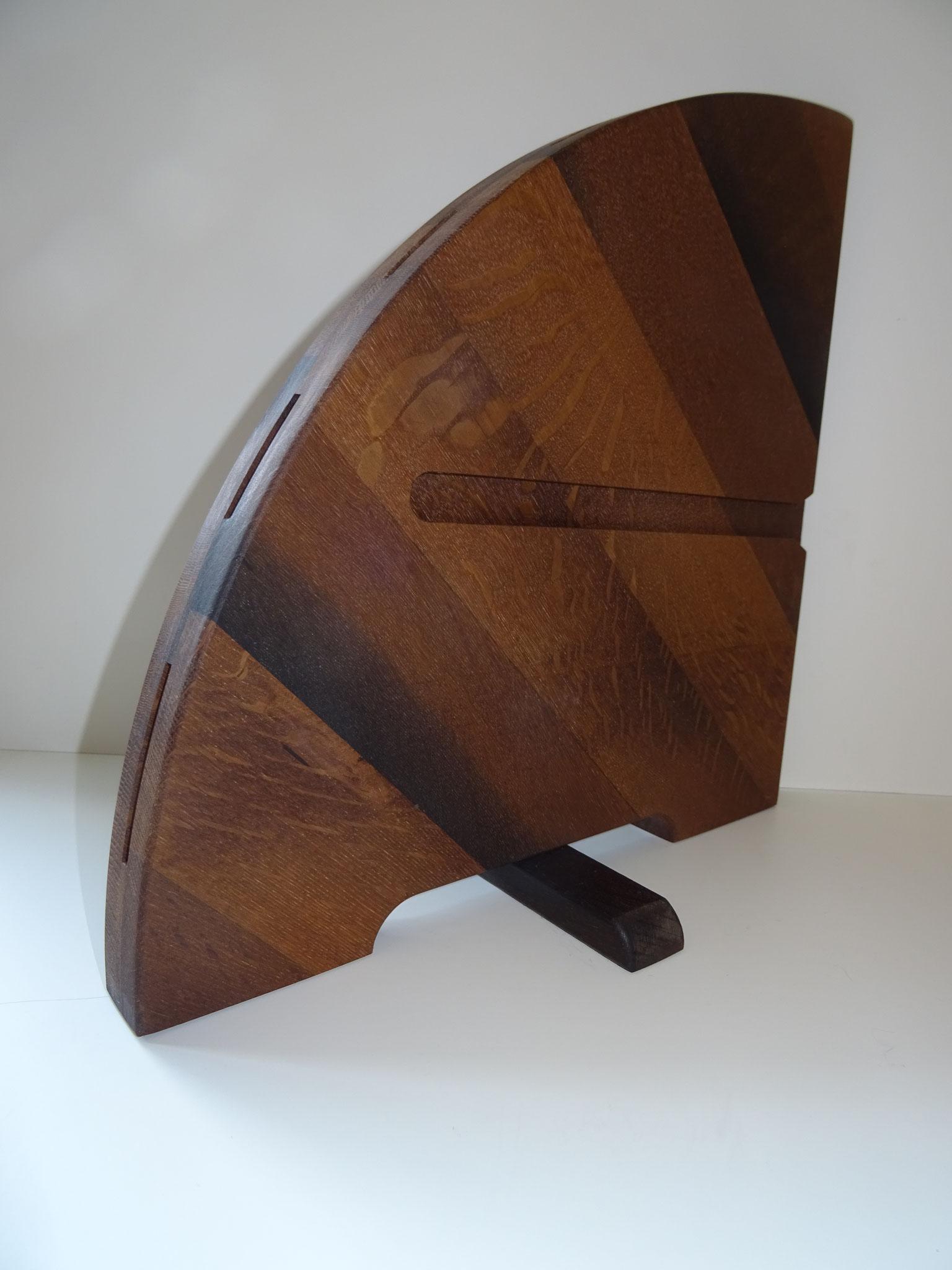Moor-Eiche diagonal gemasert (Farb-Beispiel)
