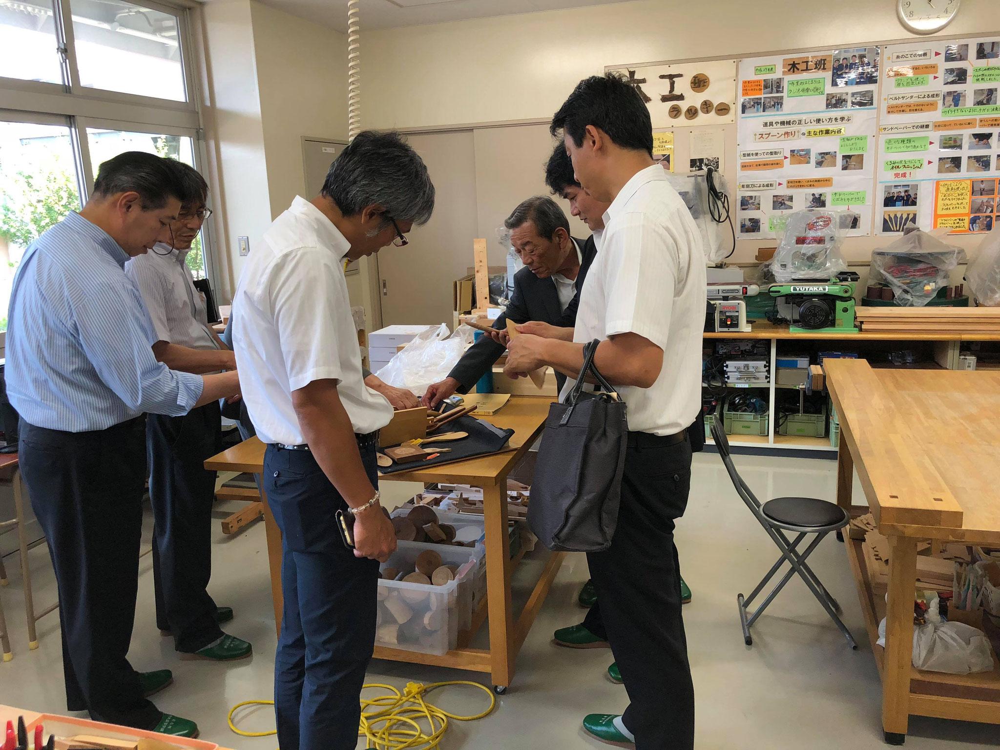 7月19日 木工班の実習風景