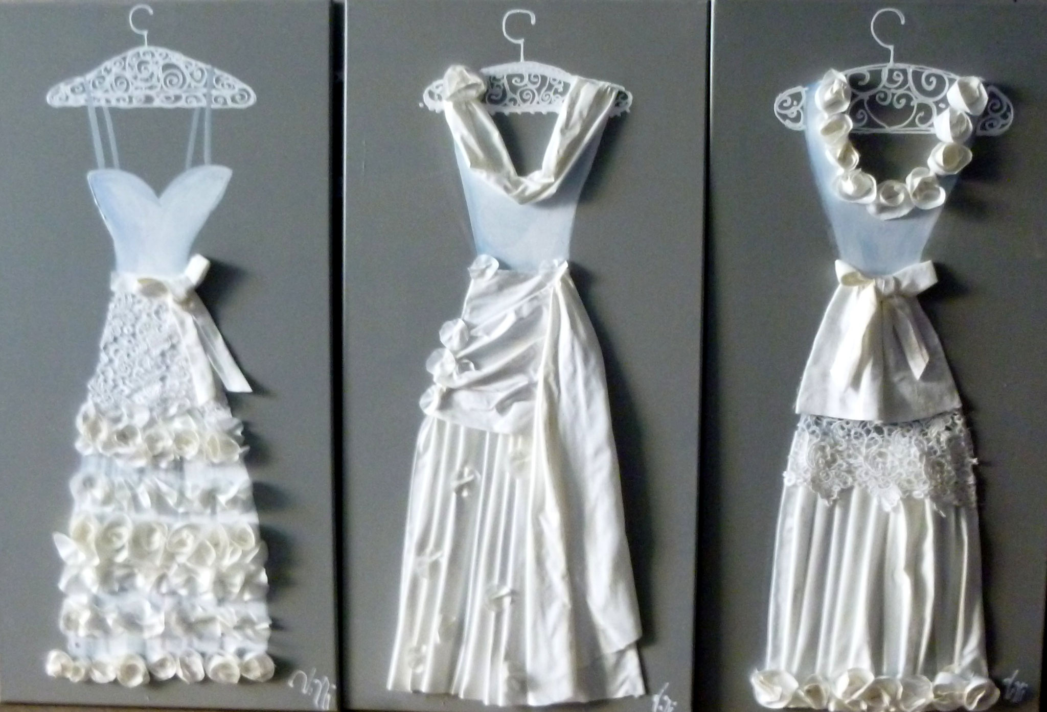 Robes blanches 3x40x120