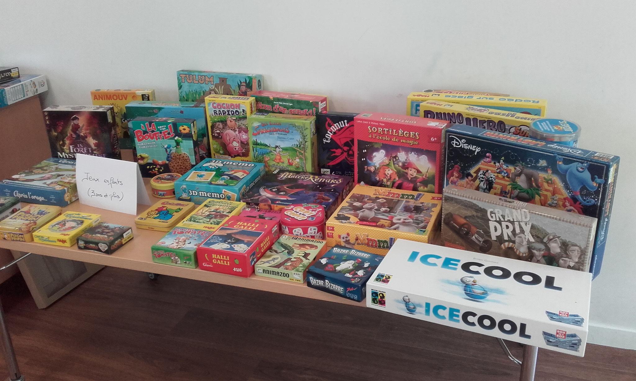 des jeux pour les plus jeunes