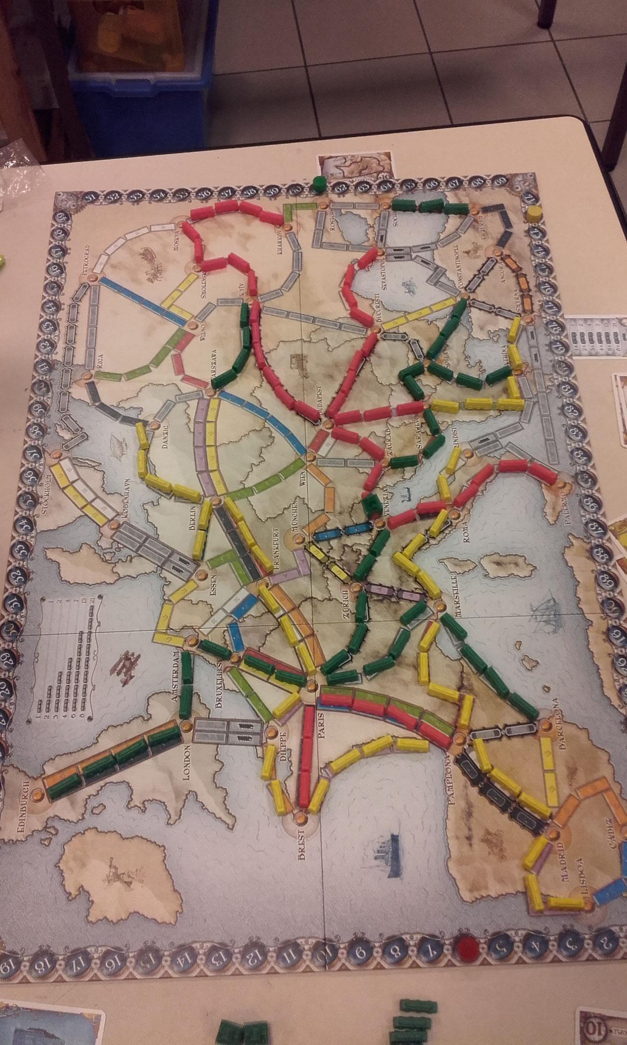 2e tour, table I : l'Europe traversée d'est en ouest