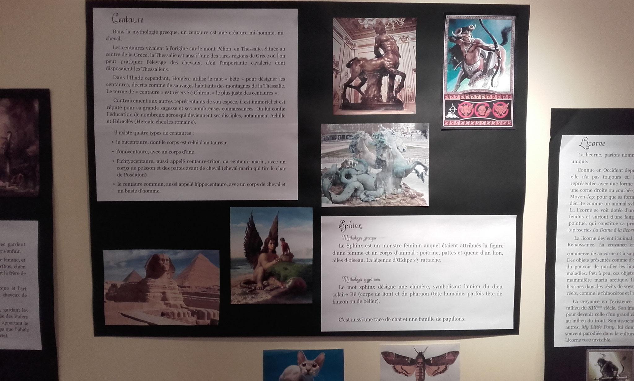les chimères : Centaure et Sphinx