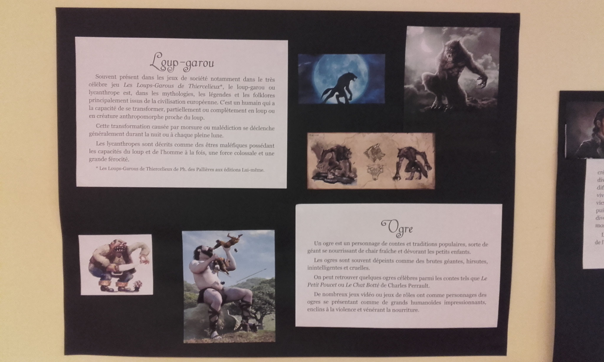 les créatures monstrueuses : Loup-garou et Ogre