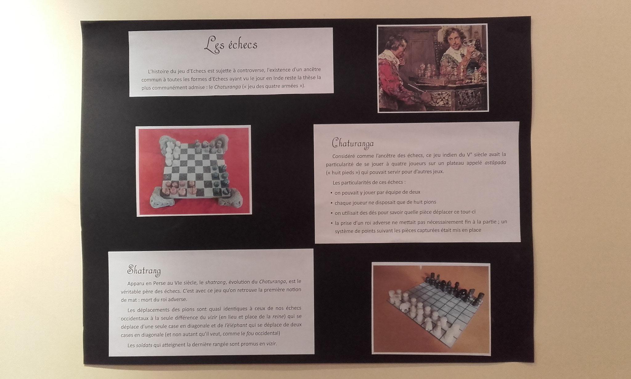 panneau sur les échecs