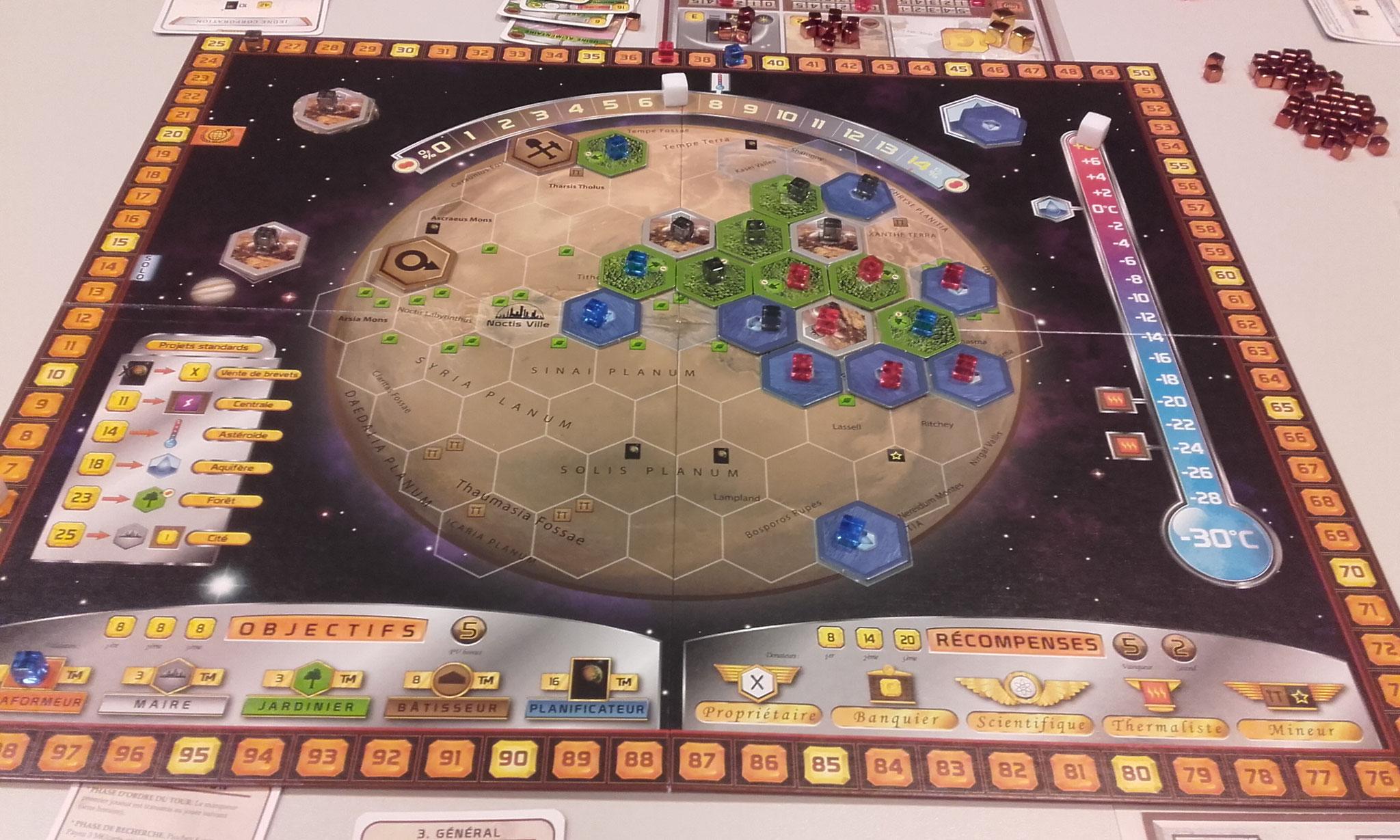 Terraforming Mars : mars commence à être habitable