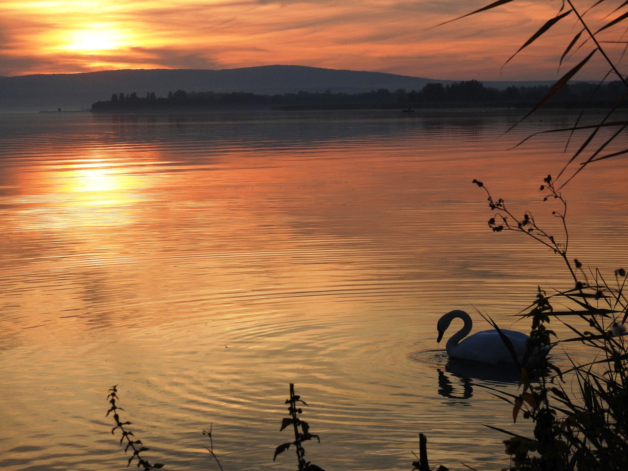 Romantische zonsondergang