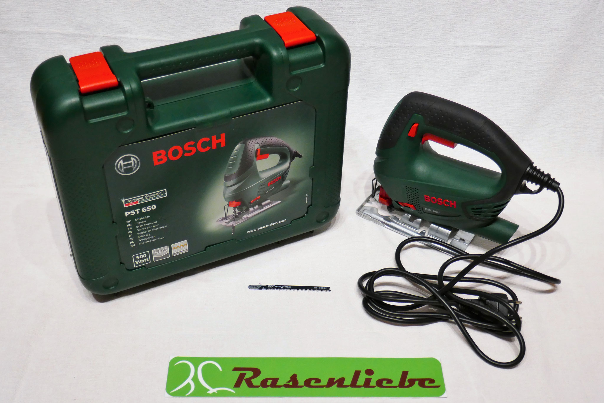Bosch Stichsäge PST 650 mit Holzsägeblatt