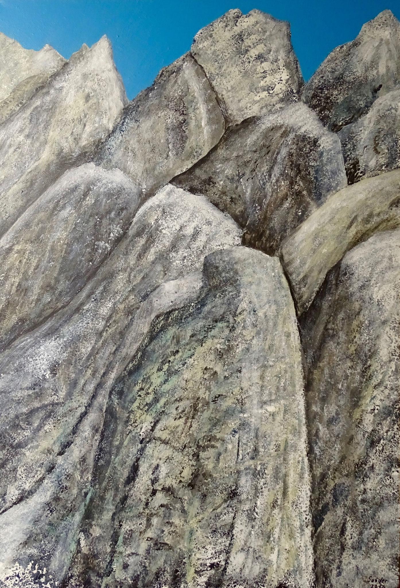 Felsgiganten, 100 x 70 cm, Acrylfarben auf Keilrahmen, signiert und datiert 2016