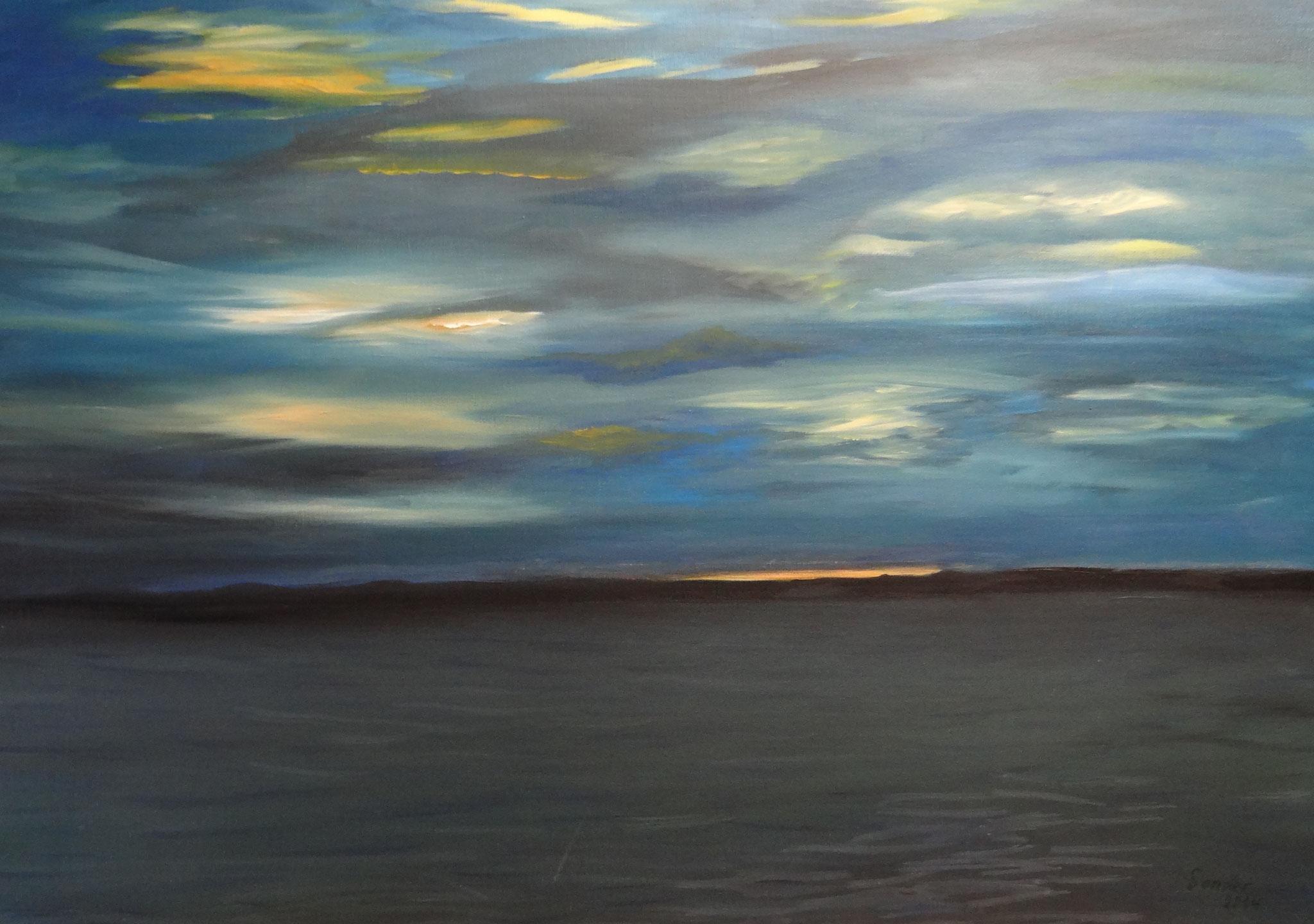 Ostsee 2, 70 x 50 cm, Ölfarben auf Malkarton, signiert und datiert 2014