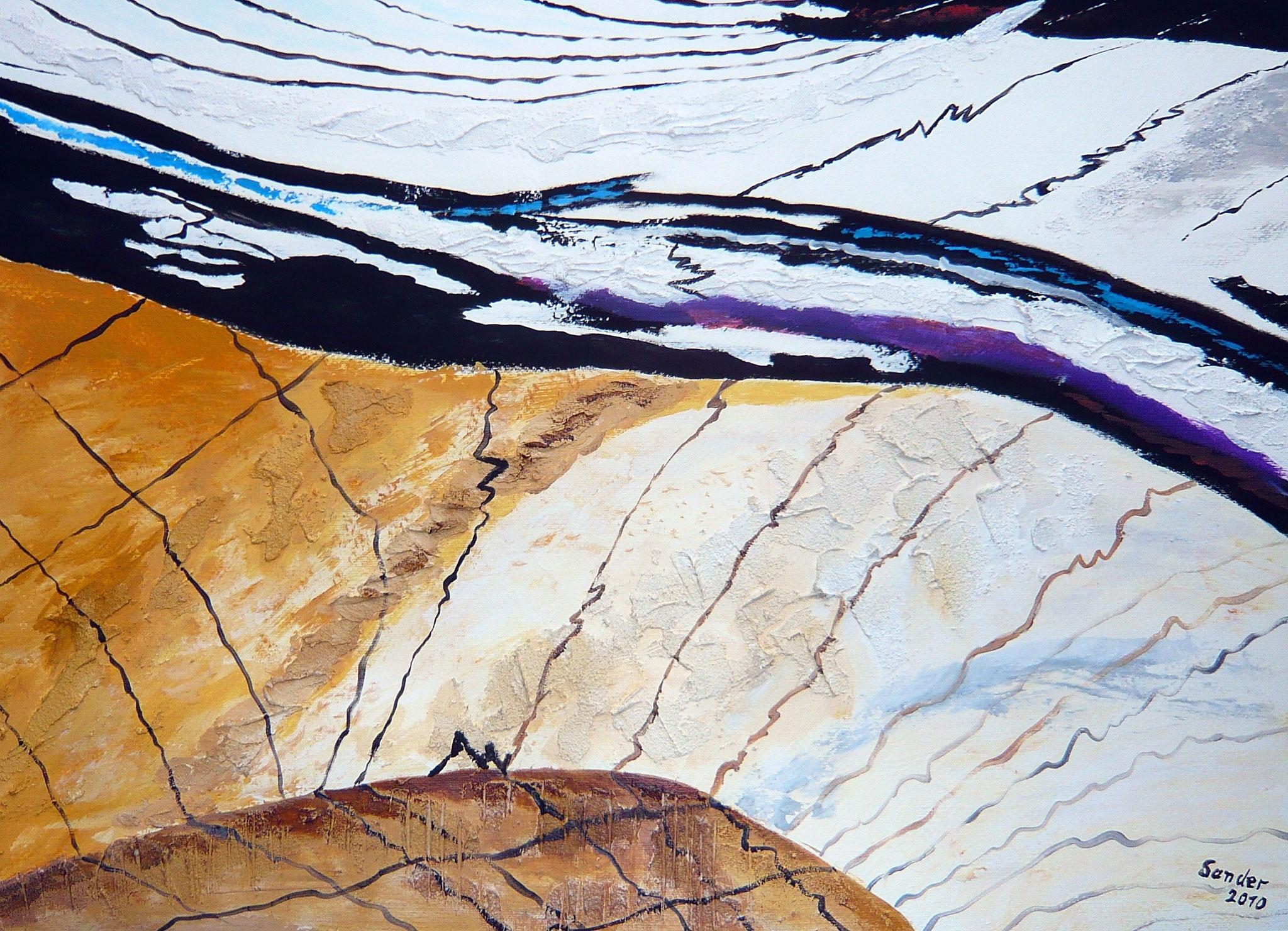 abstrakt - 1, 70 x 50 cm, Acrylfarben auf Papier, signiert und datiert 2010