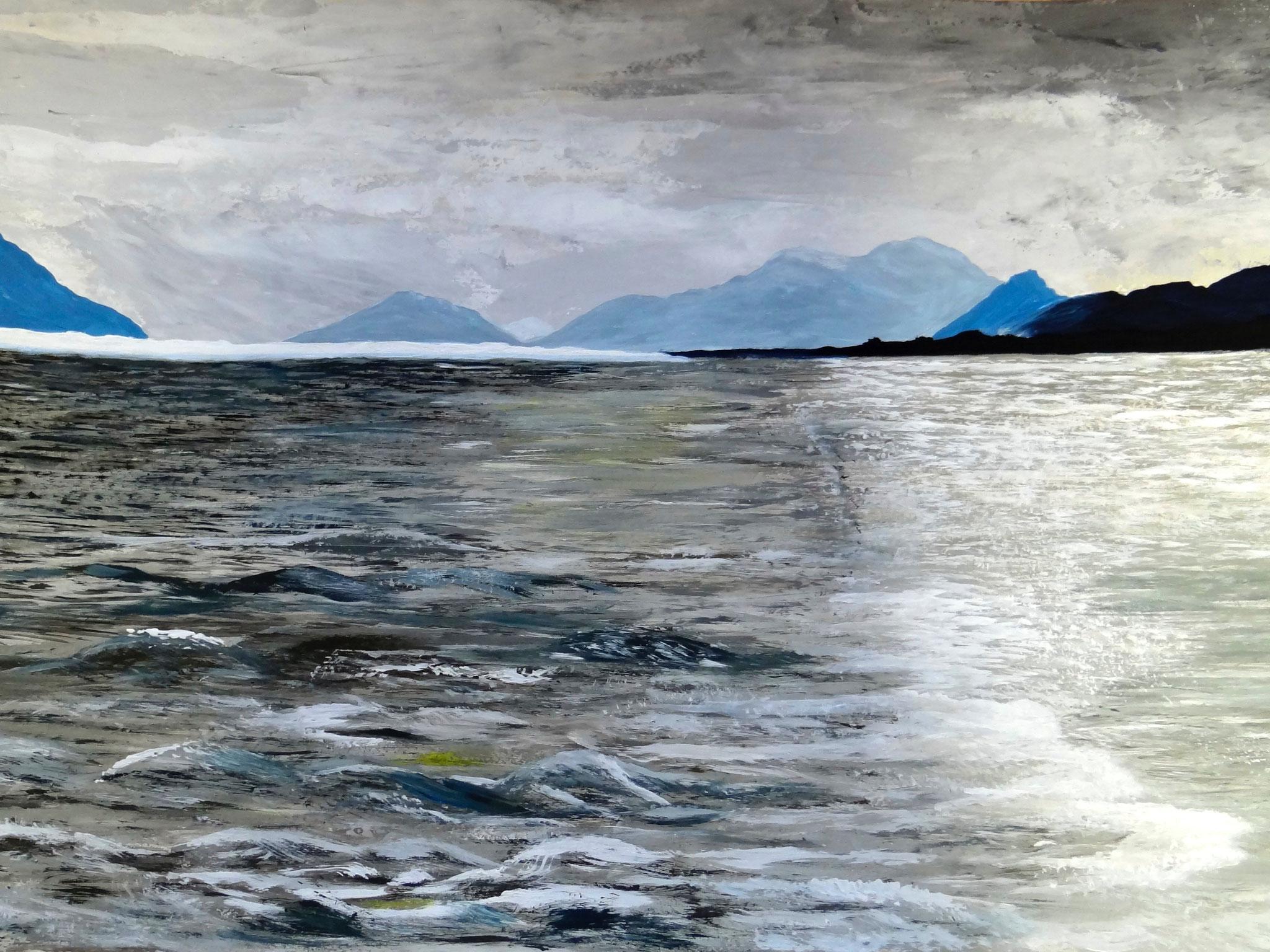 Alaska 1 , 70 x 50 cm, Acrylfarben auf Papier, signiert und datiert 2013