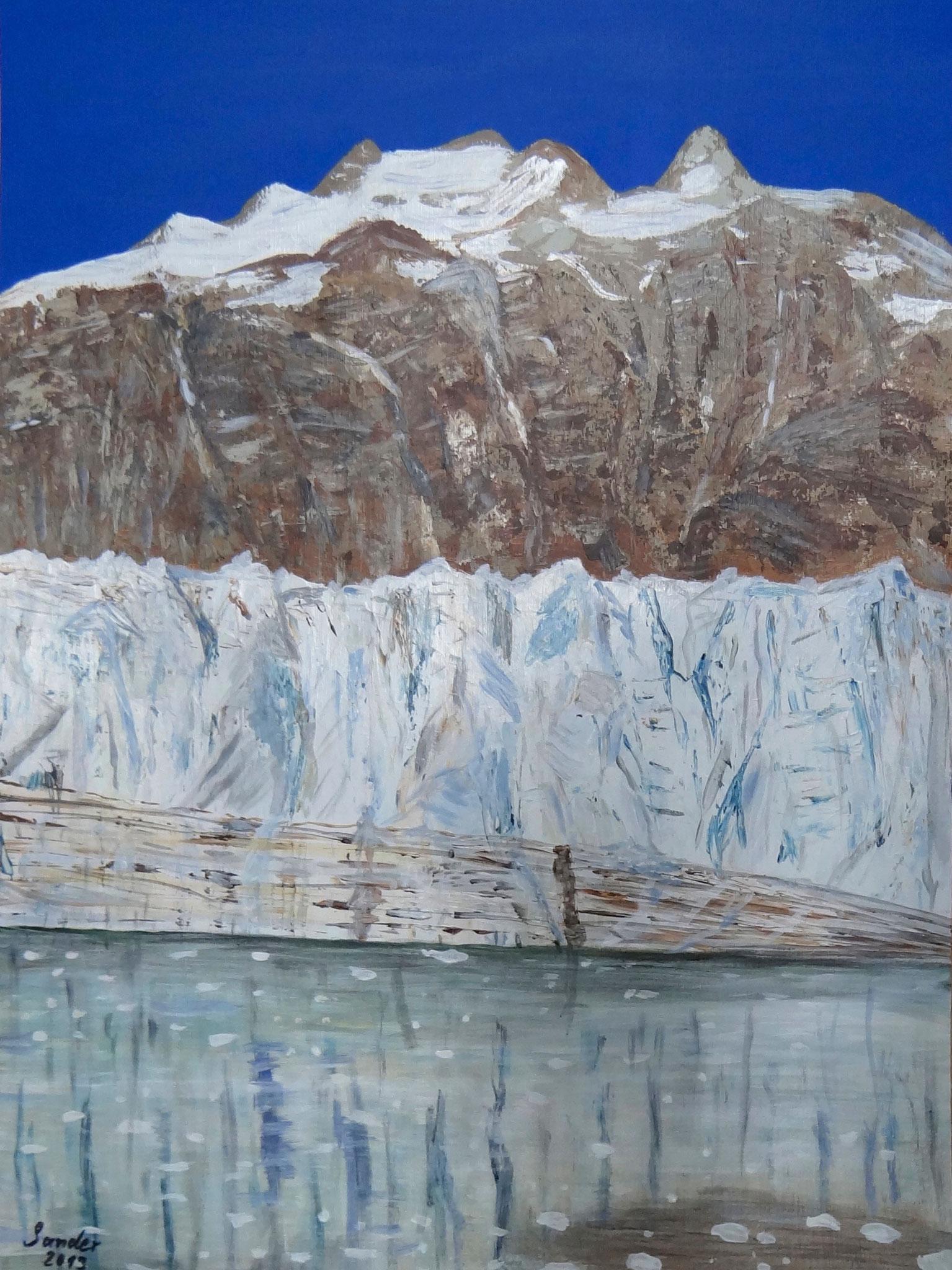 Alaska 4, 70 x 50 cm, Acrylfarben auf Papier, signiert und datiert 2013