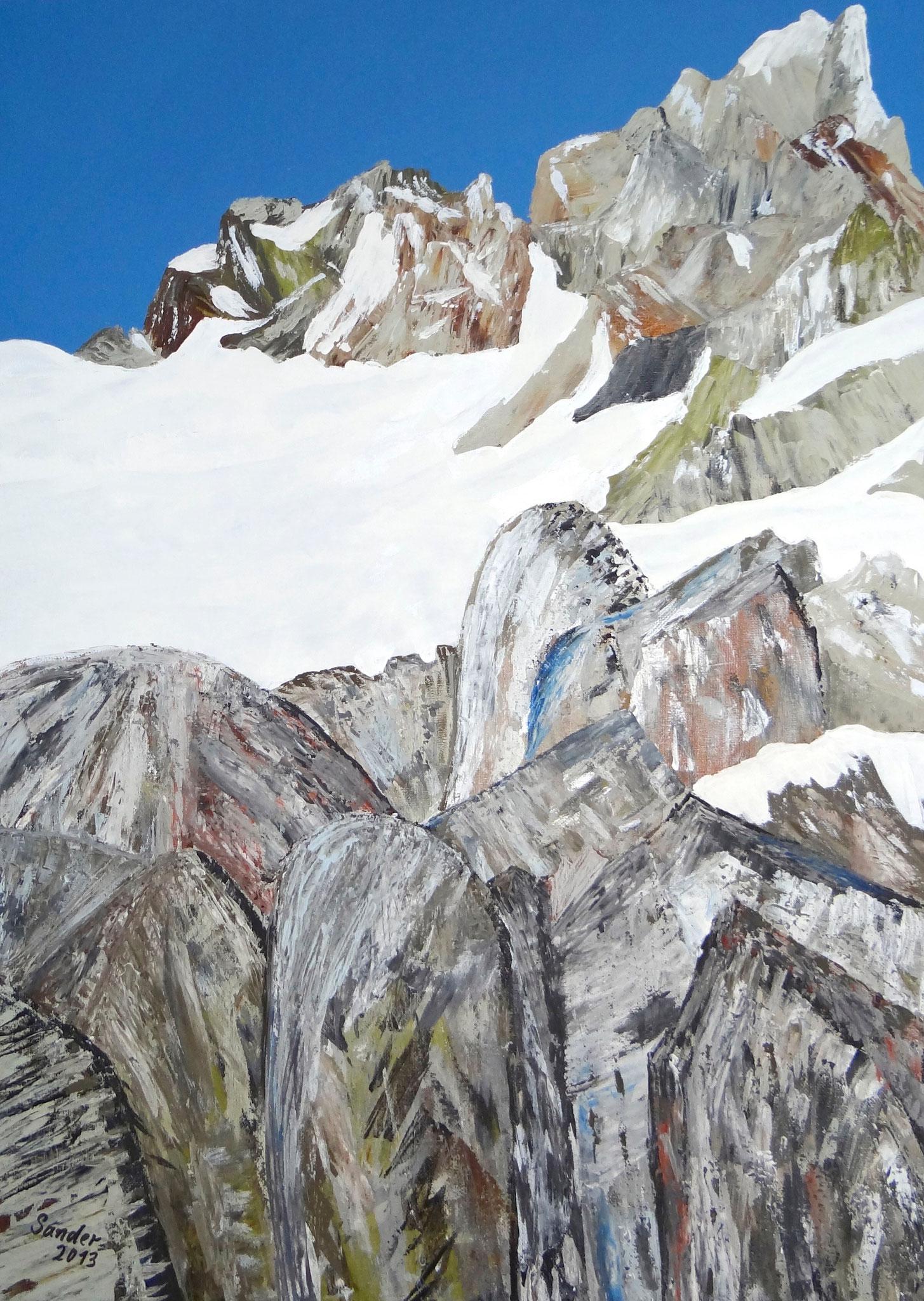 Alaska 5, 70 x 50 cm, Acrylfarben auf Keilrahmen, signiert und datiert 2013