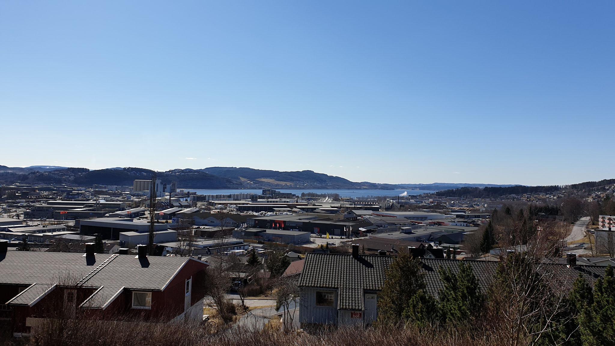 Aussicht über Steinkjer