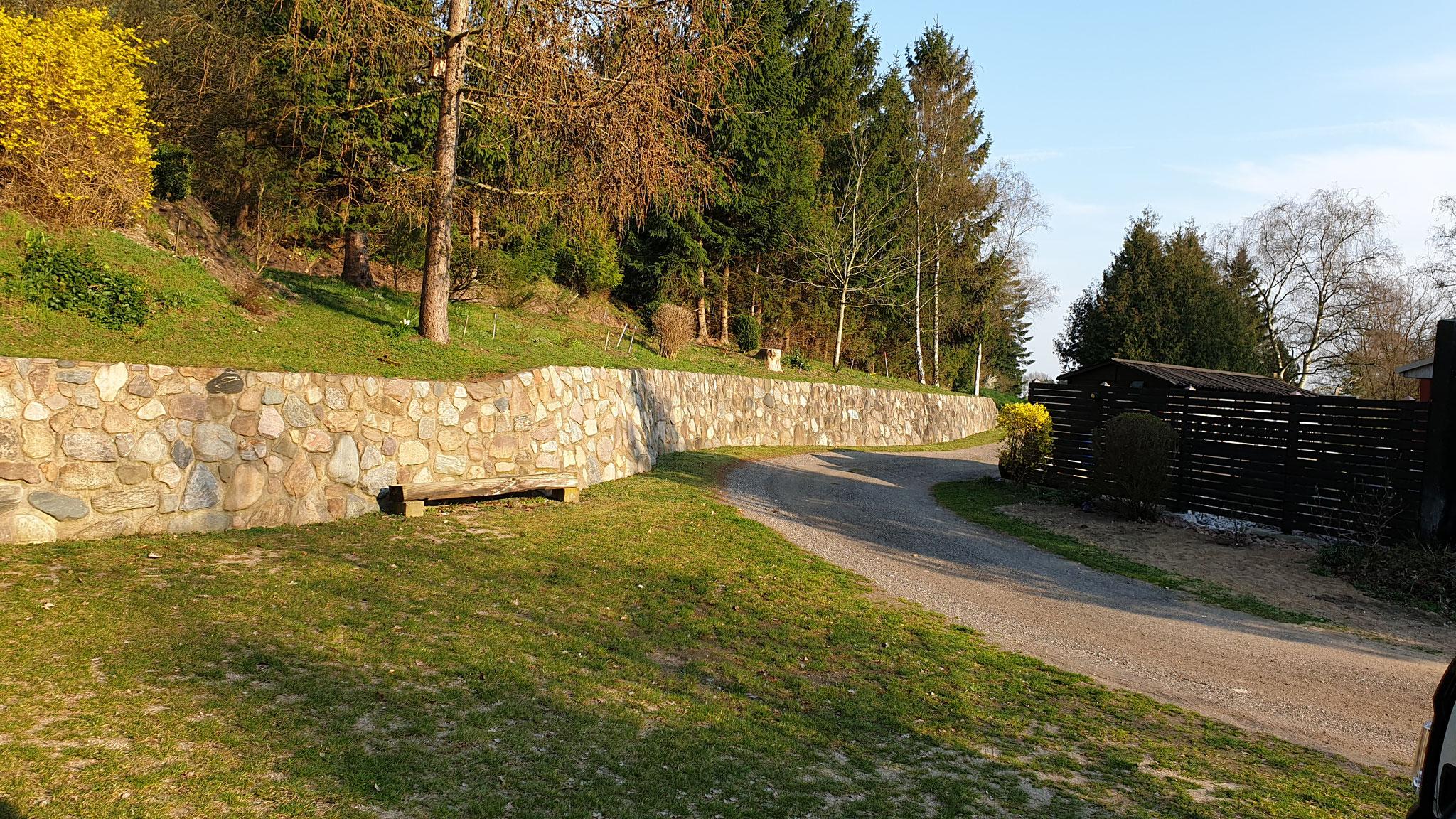 Unser Stellplatz in Munke Bjergby